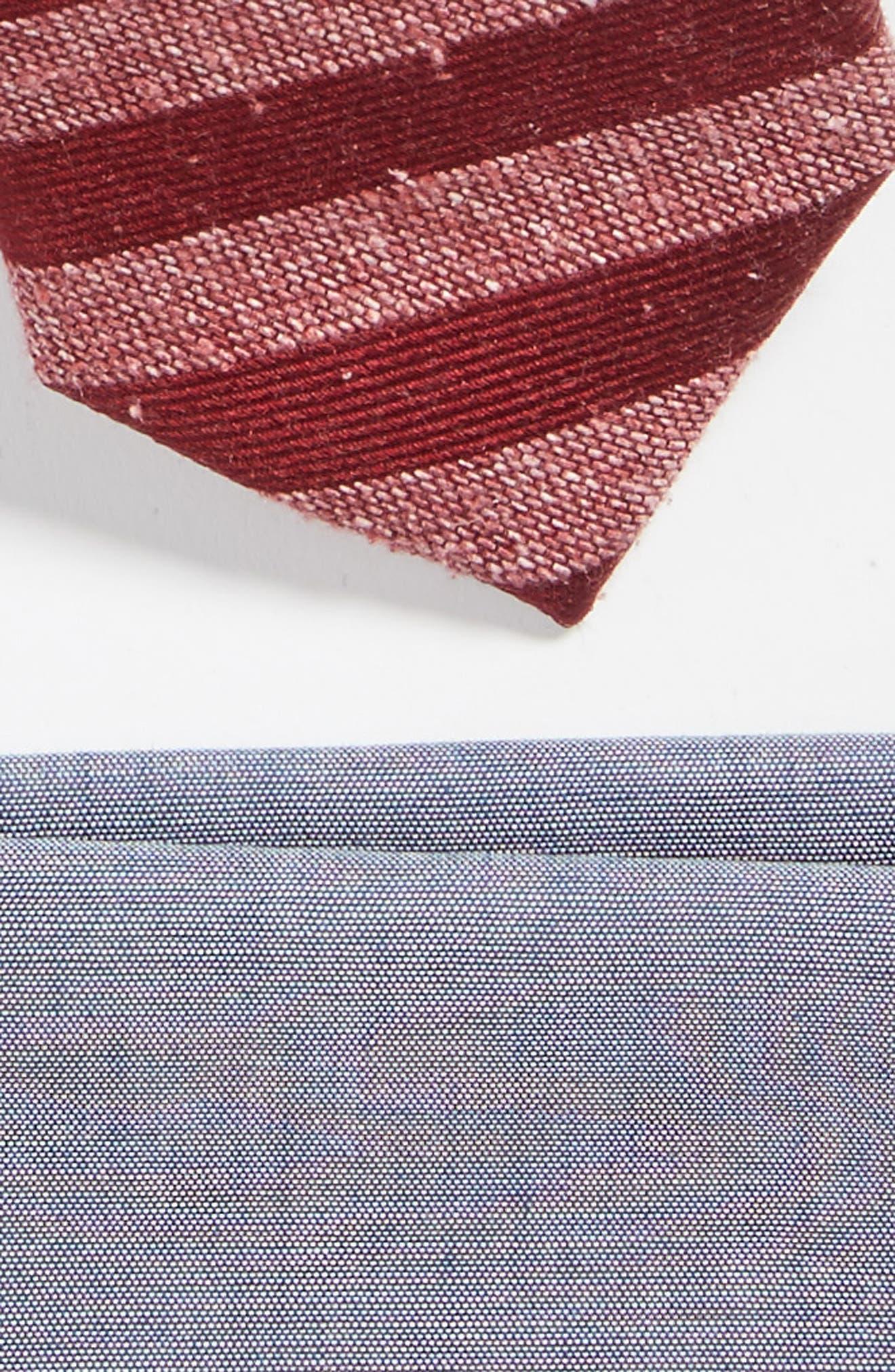 Alternate Image 2  - The Tie Bar Meter Stripe Tie & Pocket Square Box Set