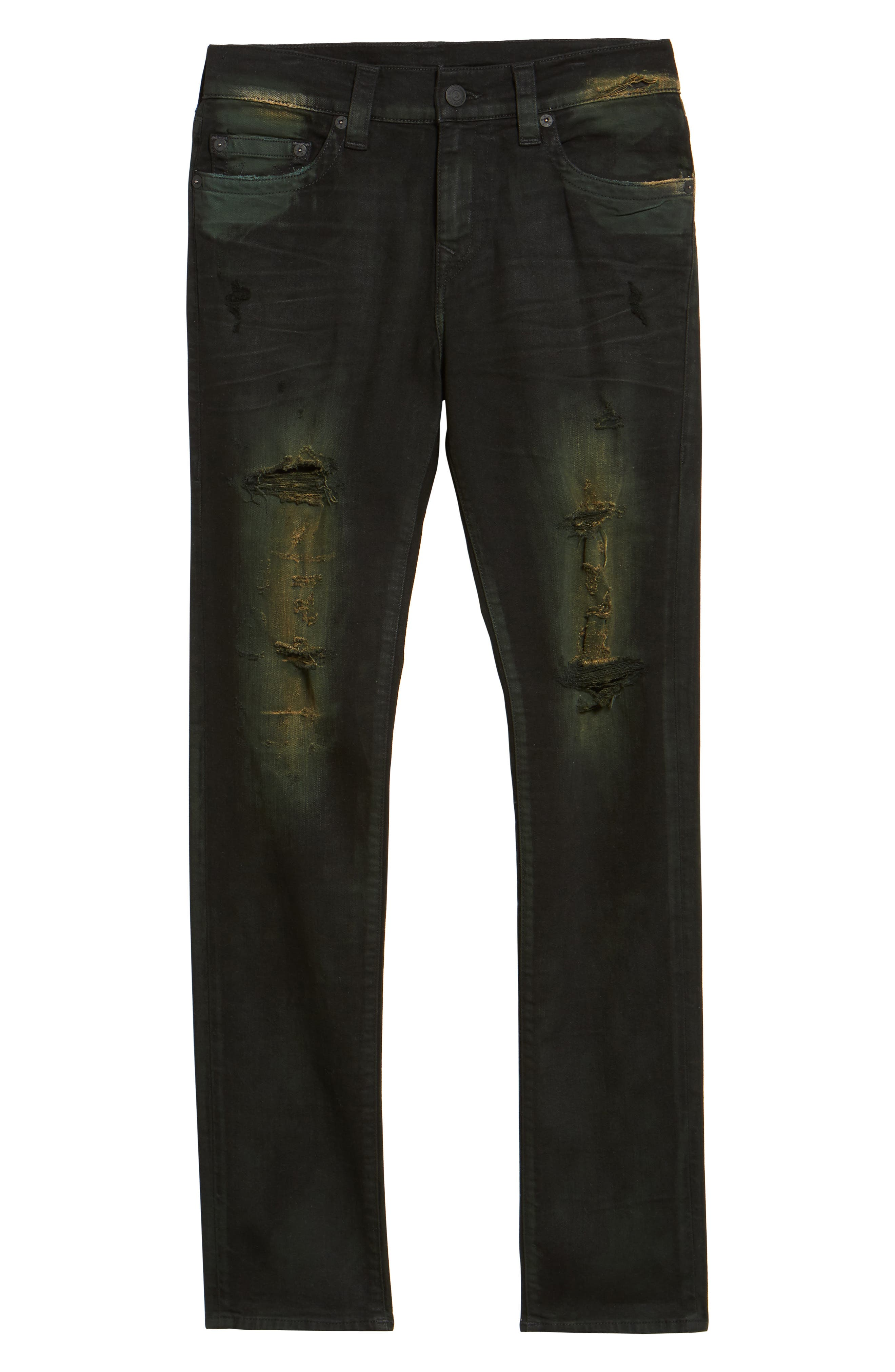 Alternate Image 6  - True Religion Brand Jeans Rocco Skinny Fit Jeans (Green Blaze)