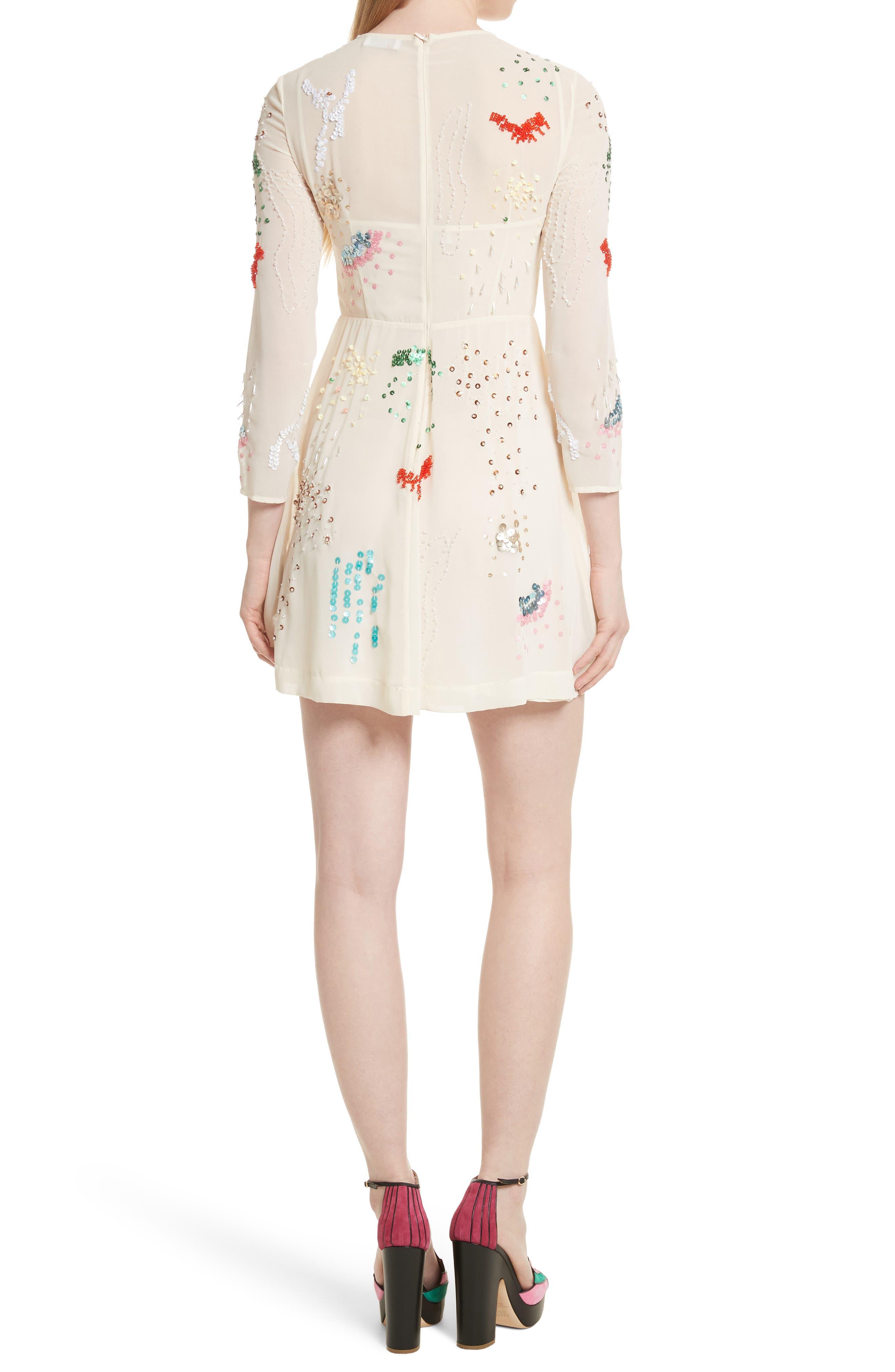 Alternate Image 2  - RED Valentino Embellished Georgette Minidress