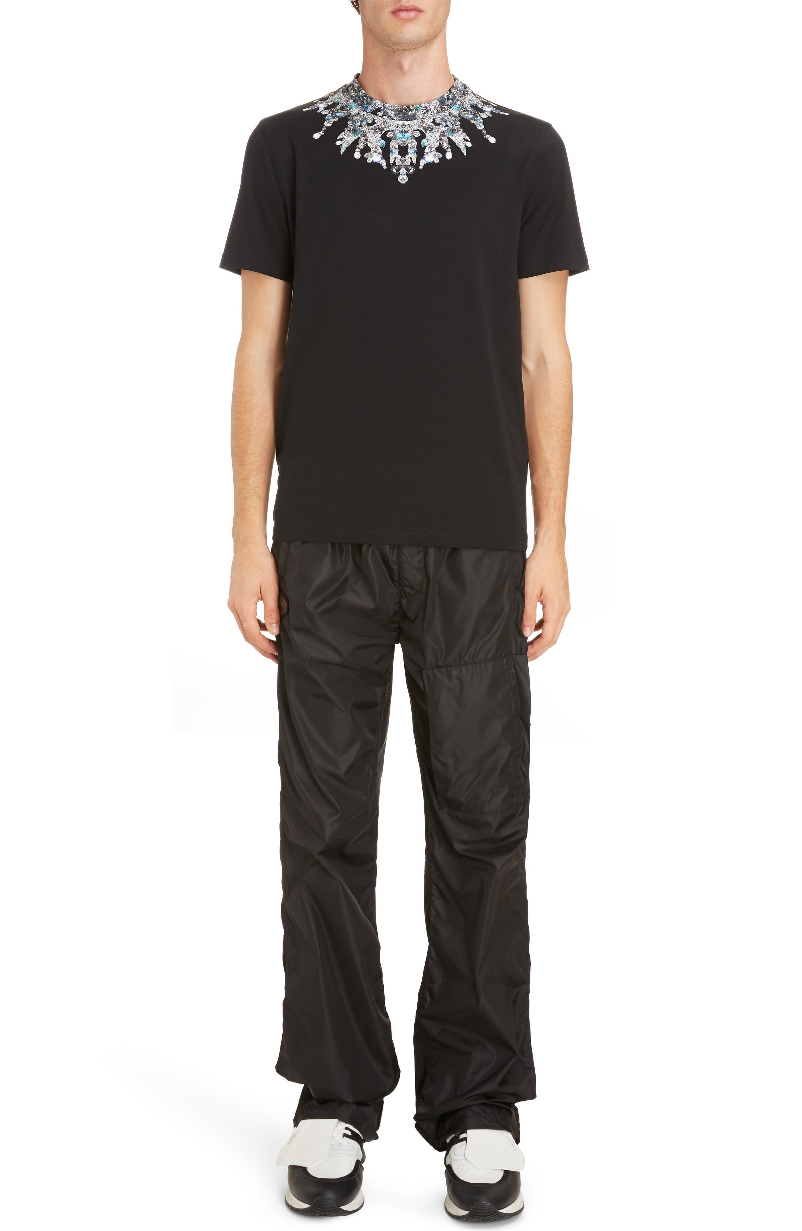 Jewel Print Crewneck T-Shirt,                             Alternate thumbnail 6, color,                             Black