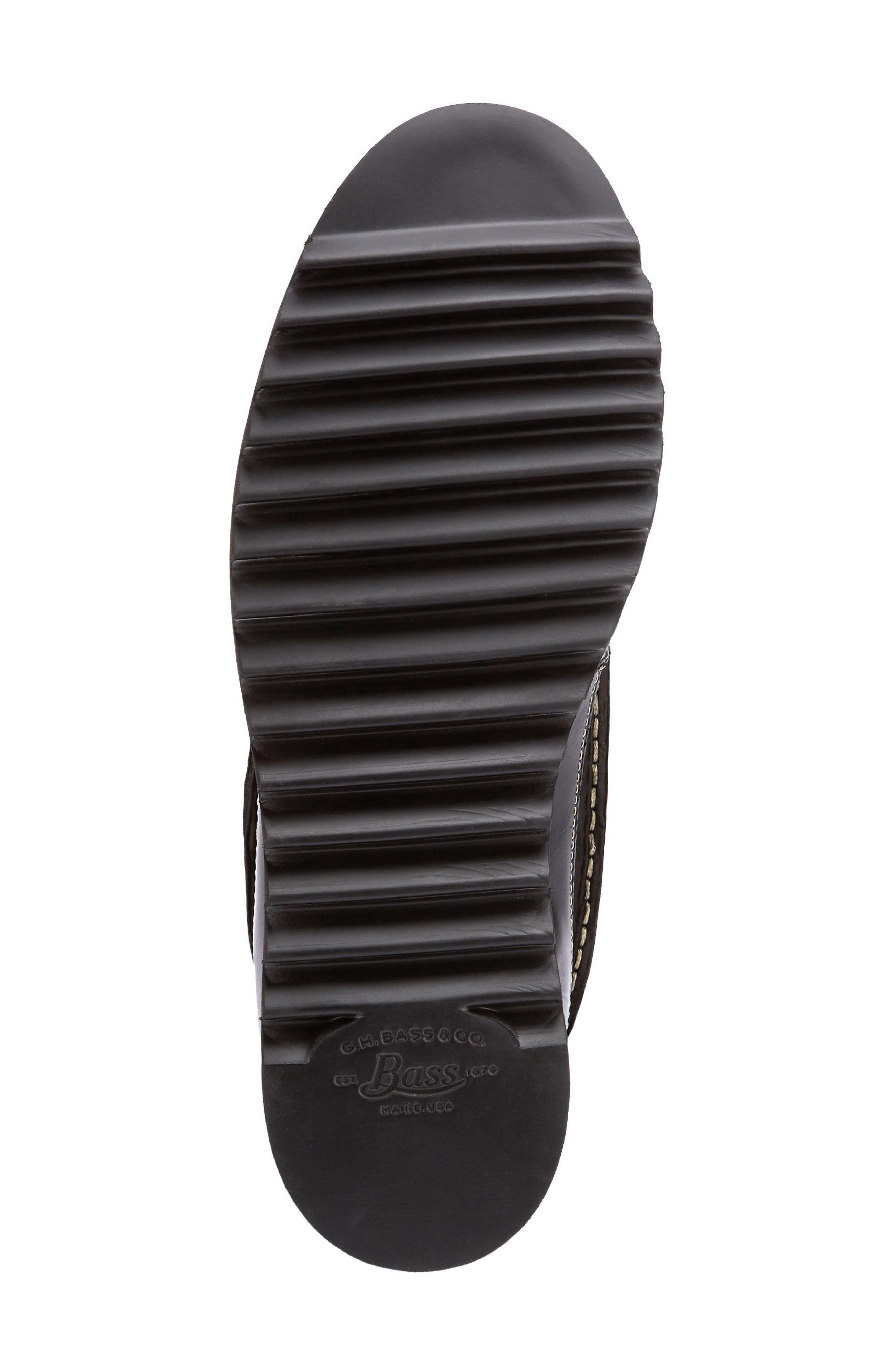Nickson Razor Moc Toe Boot,                             Alternate thumbnail 6, color,                             Black