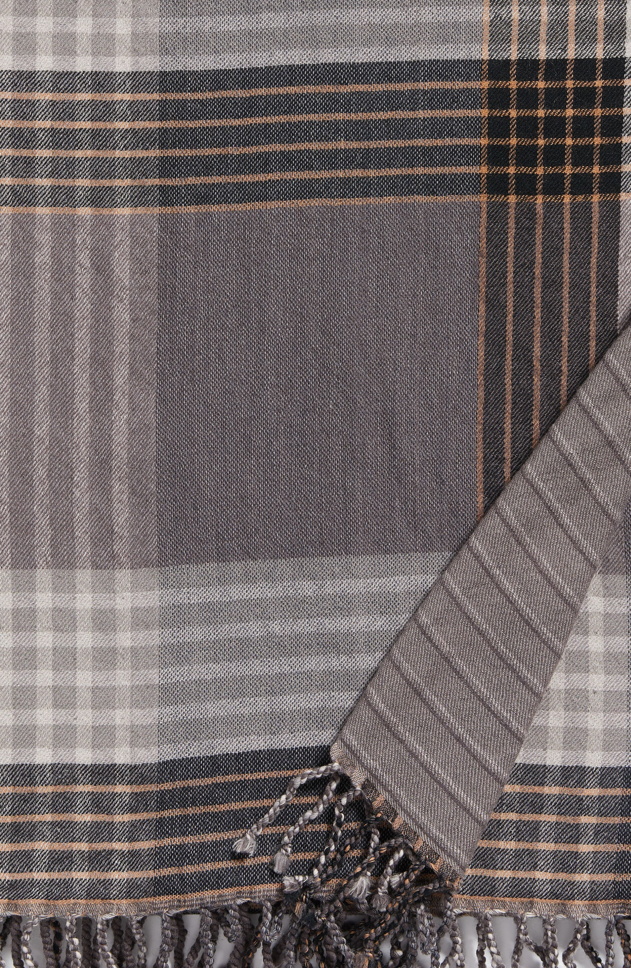 Alternate Image 4  - Modern Staples Plaid Double Face Merino Wool Throw