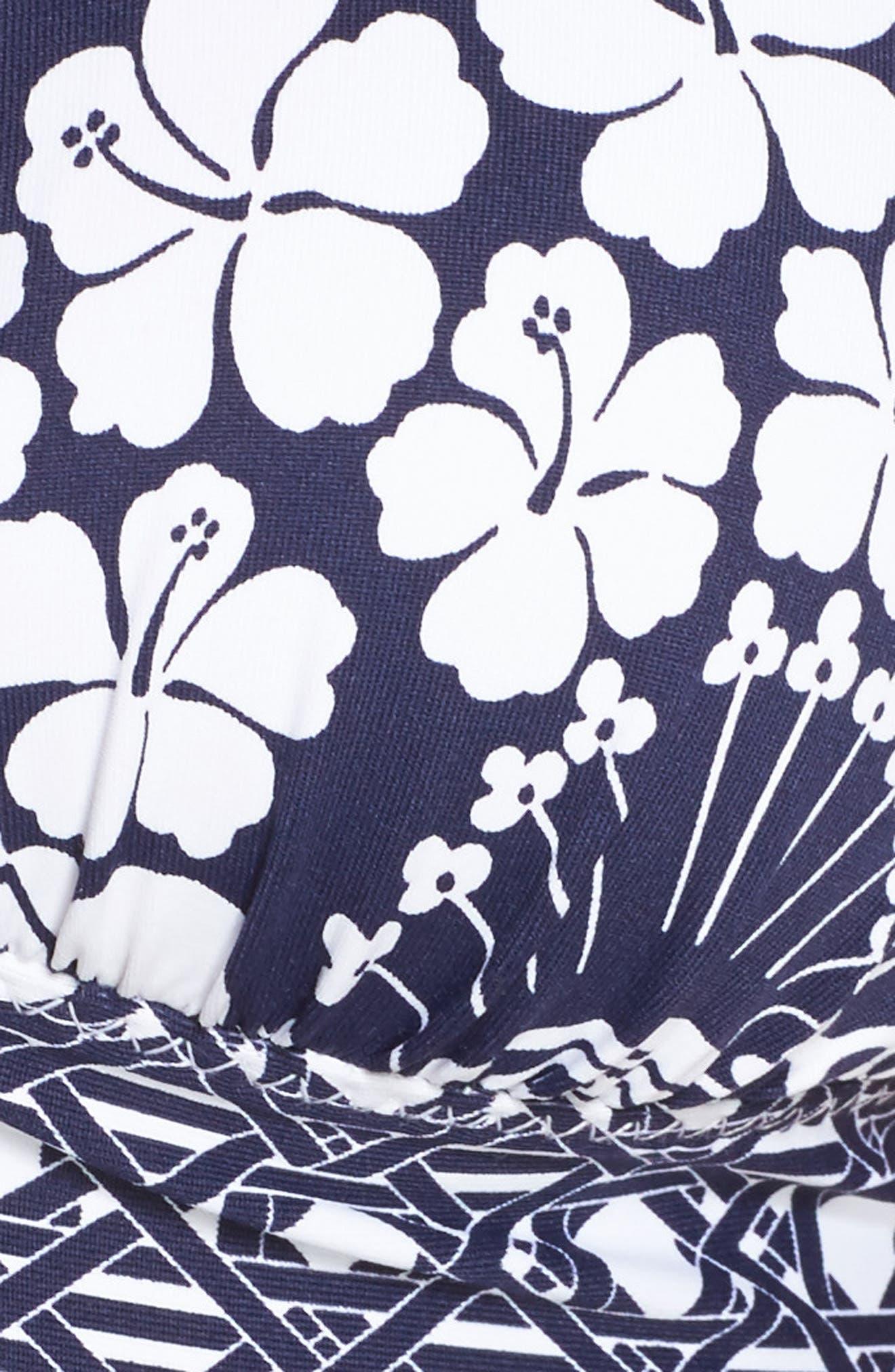 Paisley Paradise Halter Bikini Top,                             Alternate thumbnail 5, color,                             Mare Navy