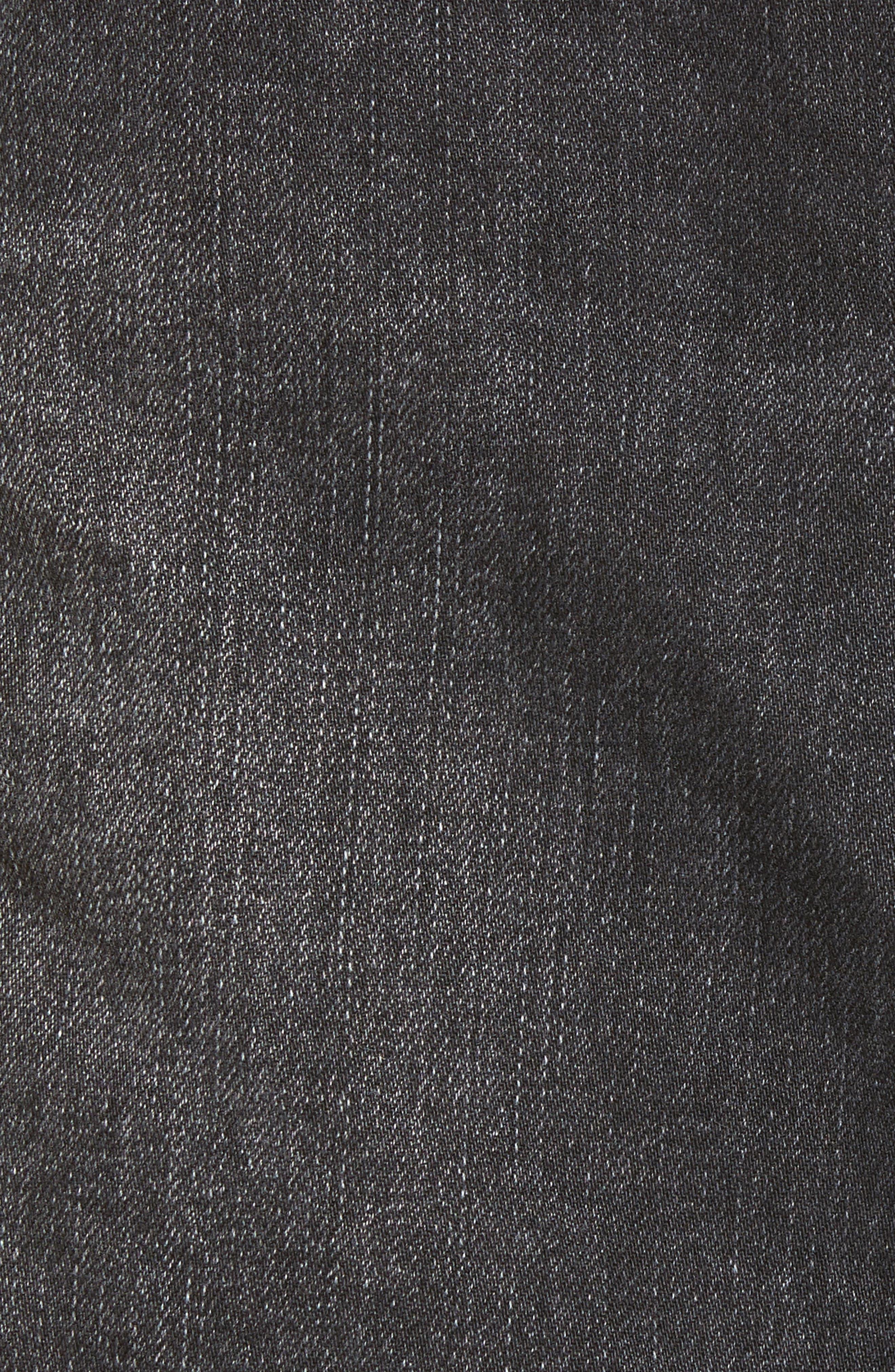 Eve Step Hem Denim Miniskirt,                             Alternate thumbnail 5, color,                             Beat Fest Black