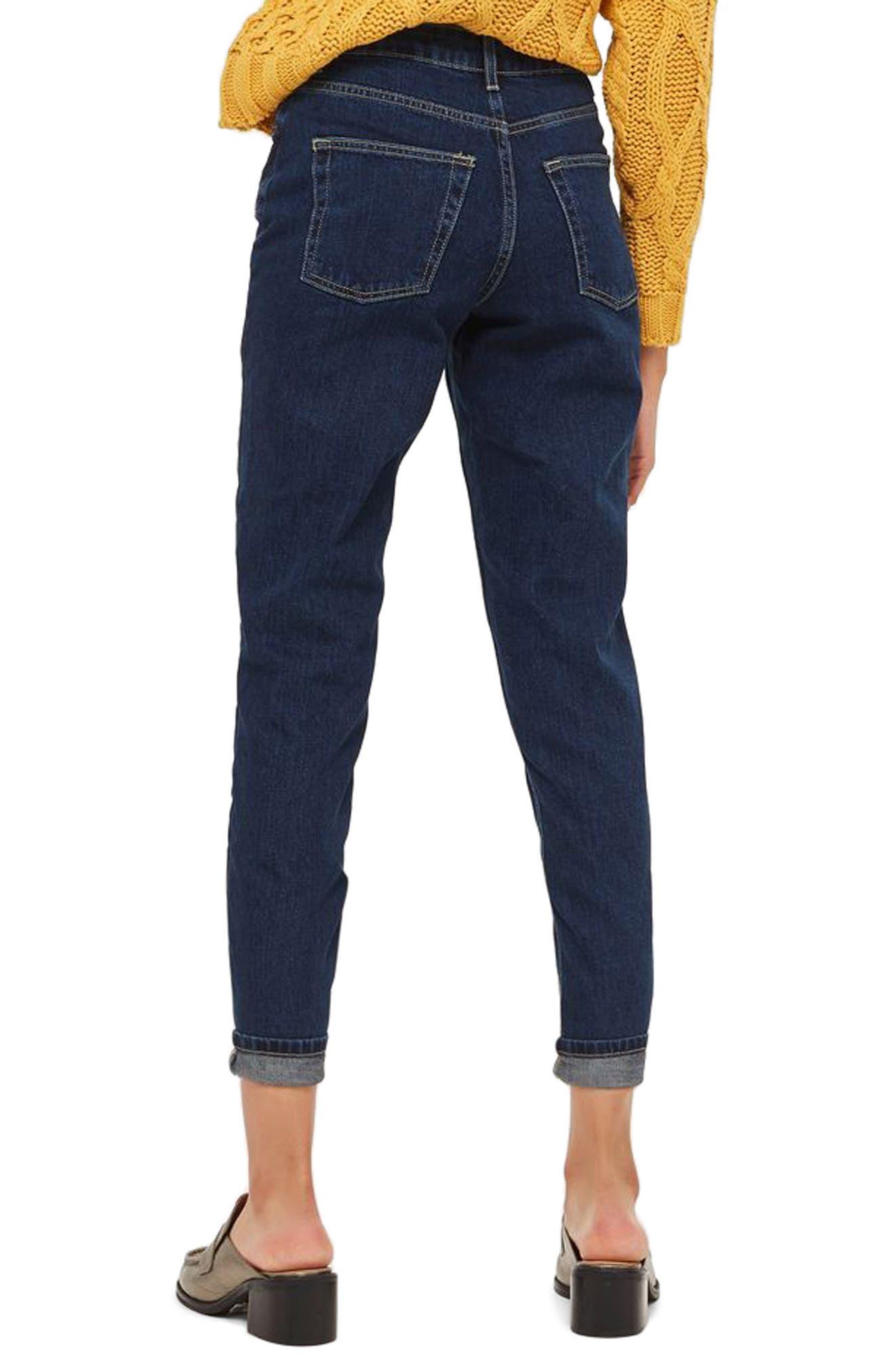 Mom Jeans,                             Alternate thumbnail 2, color,                             Mid Denim