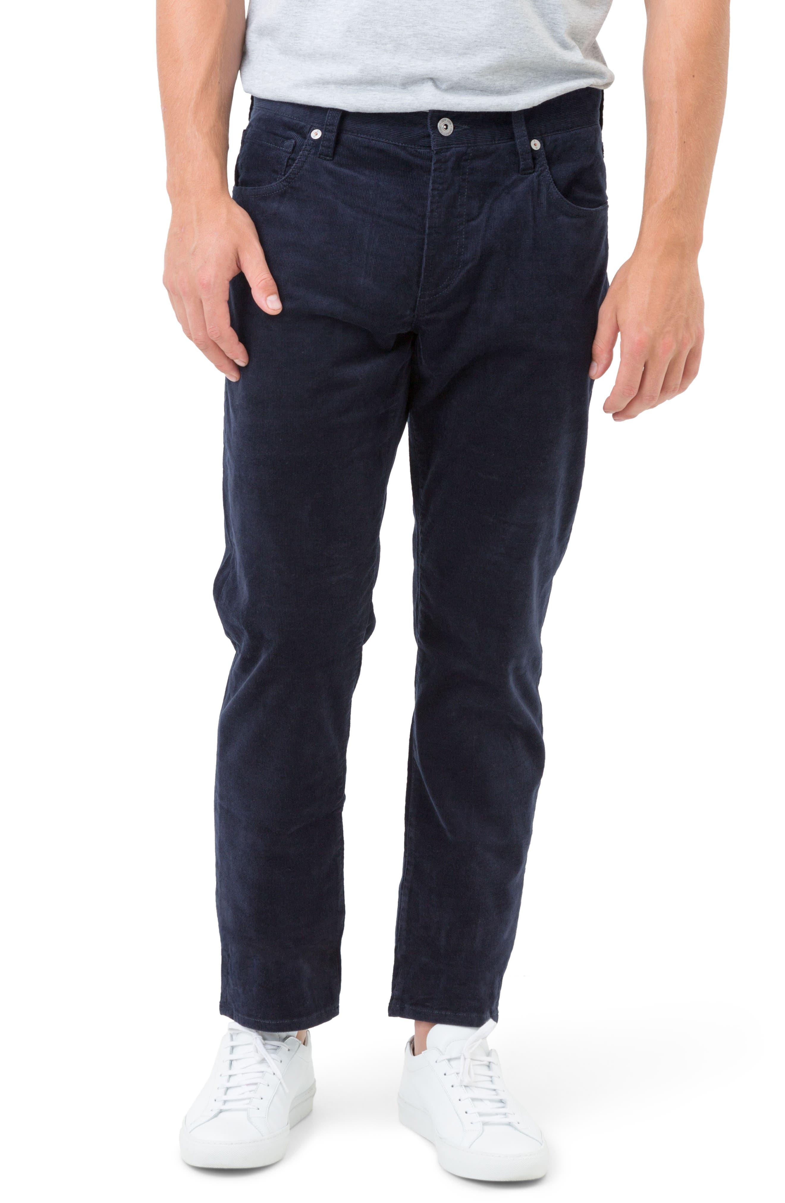 Courtland Slim Fit Corduroy Pants,                         Main,                         color, Navy