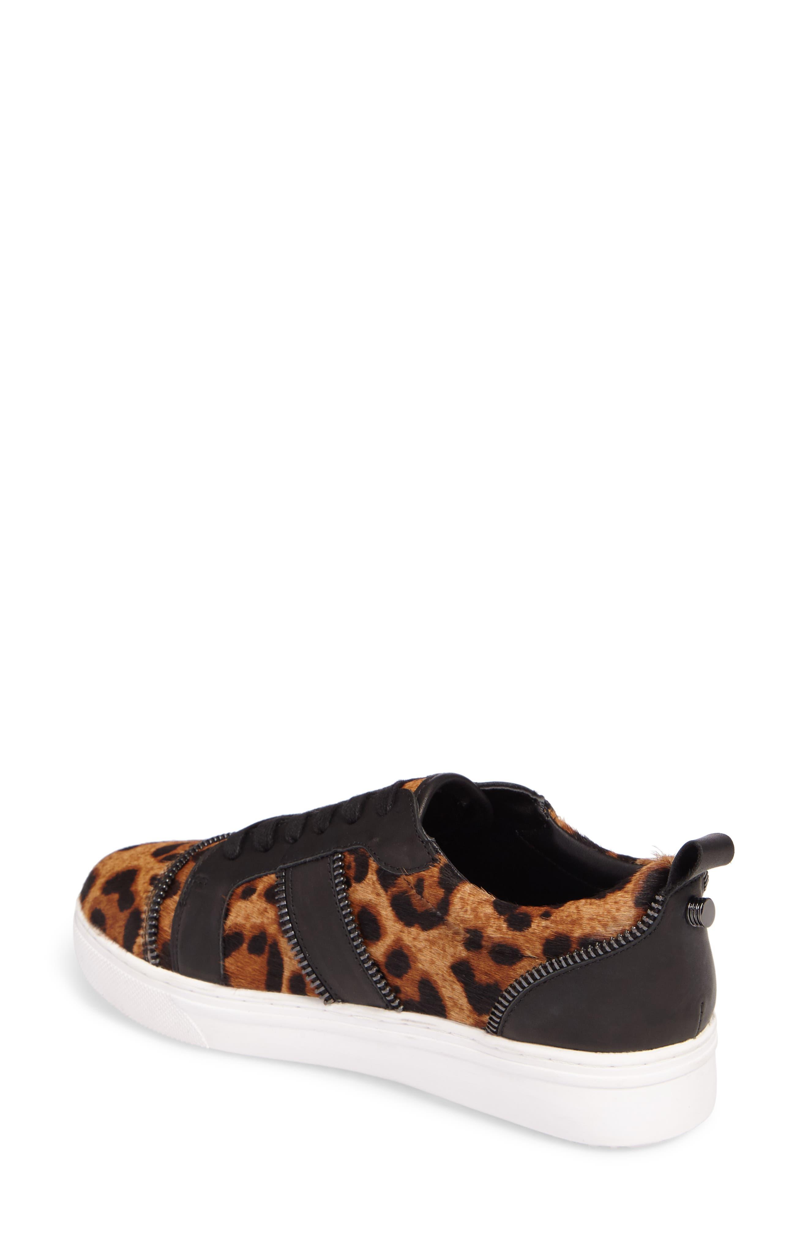 Harvey Genuine Calf Hair Sneaker,                             Alternate thumbnail 2, color,                             Leopard Calf Hair