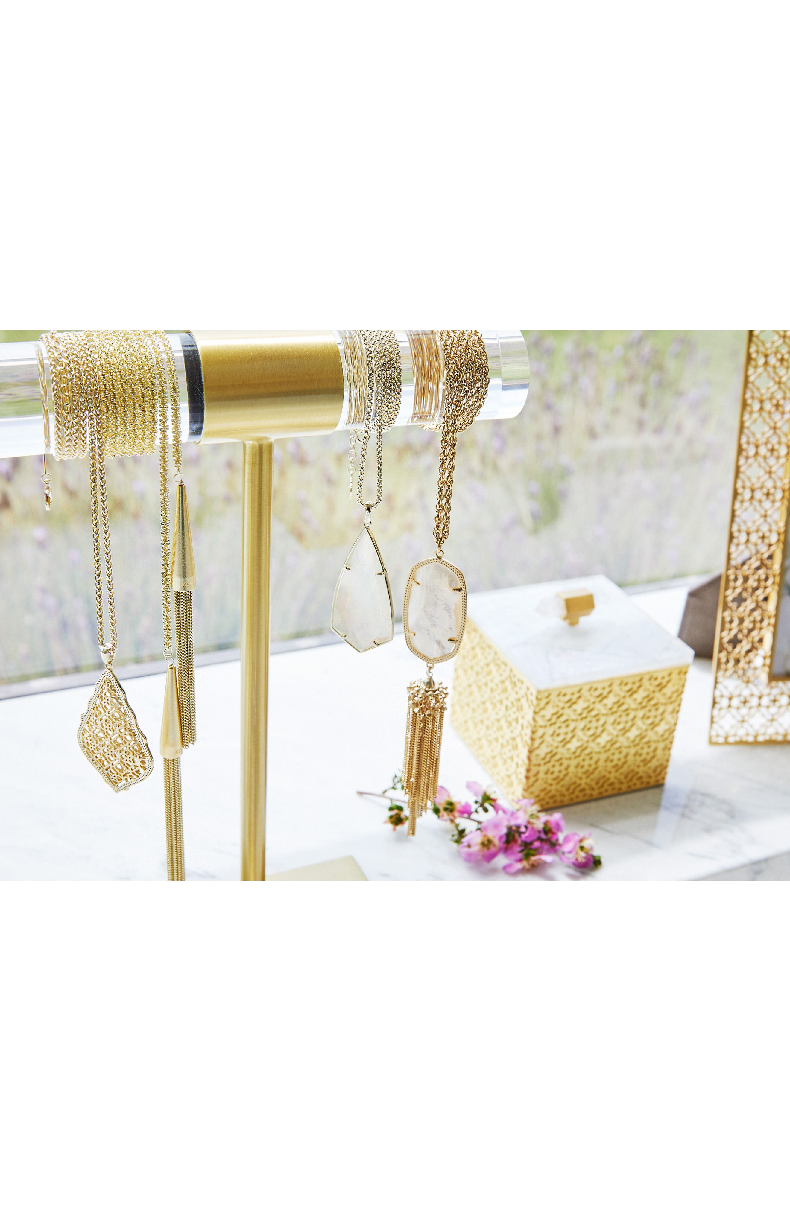 Jewelry Stand,                             Alternate thumbnail 2, color,                             Antique Brass