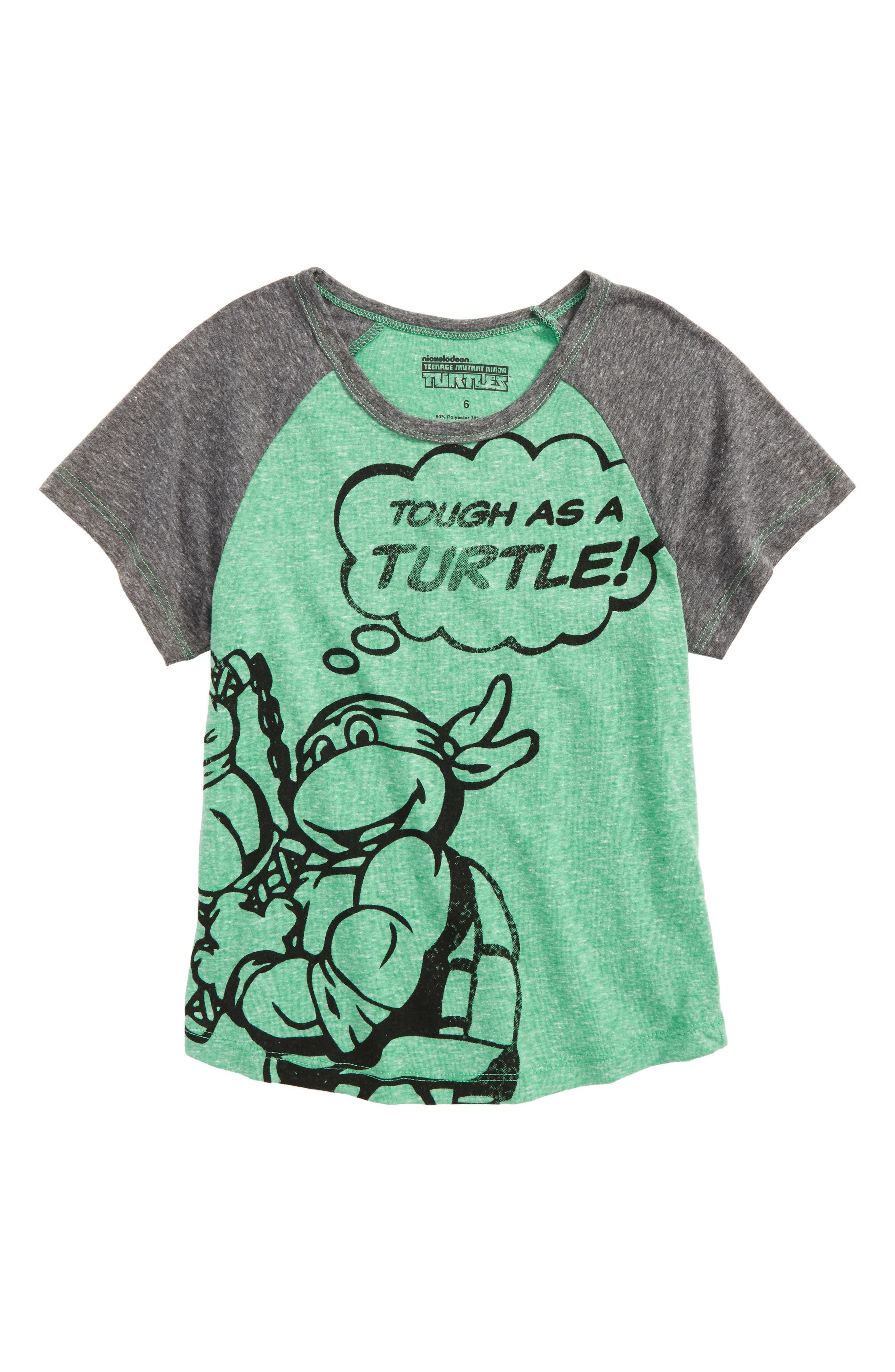 TMNT - Tough as a Turtle Graphic T-Shirt,                             Main thumbnail 1, color,                             Green
