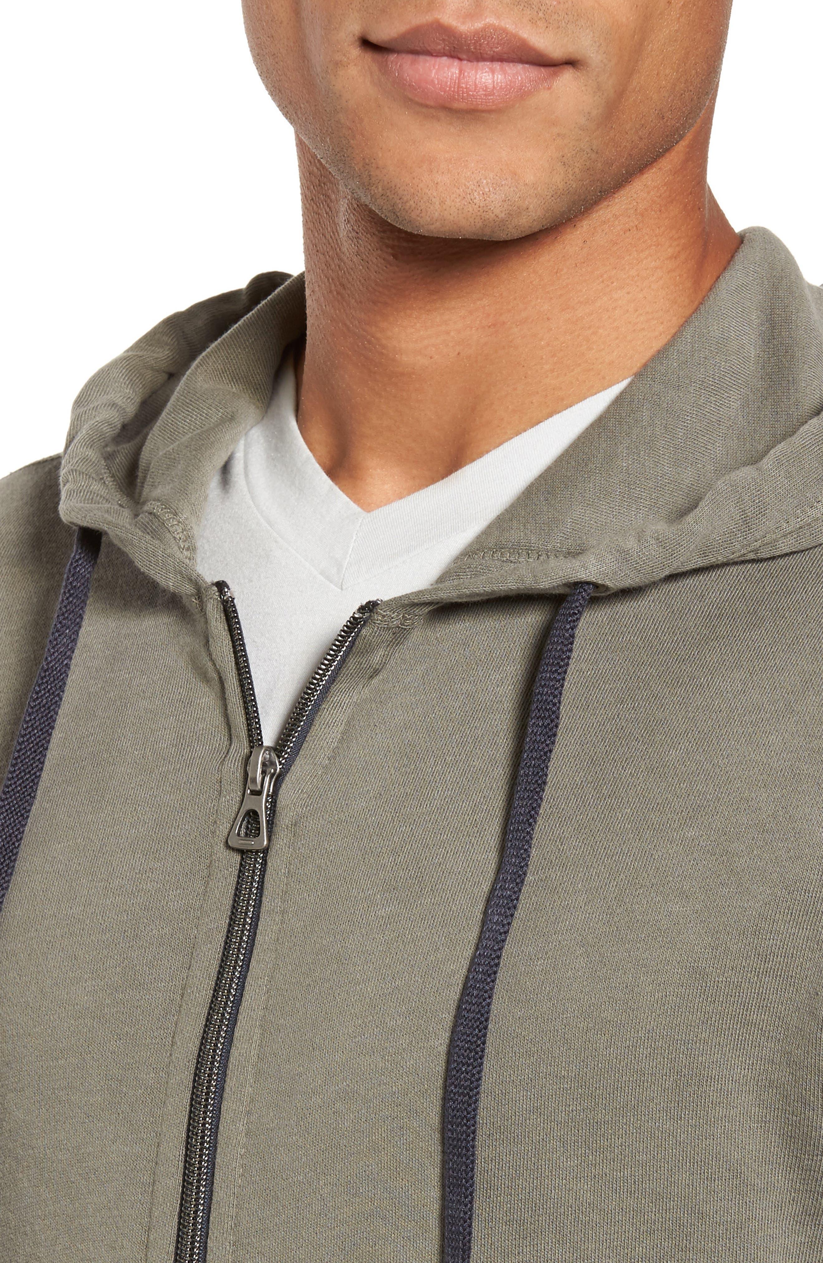 Alternate Image 4  - James Perse Classic Zip Hoodie