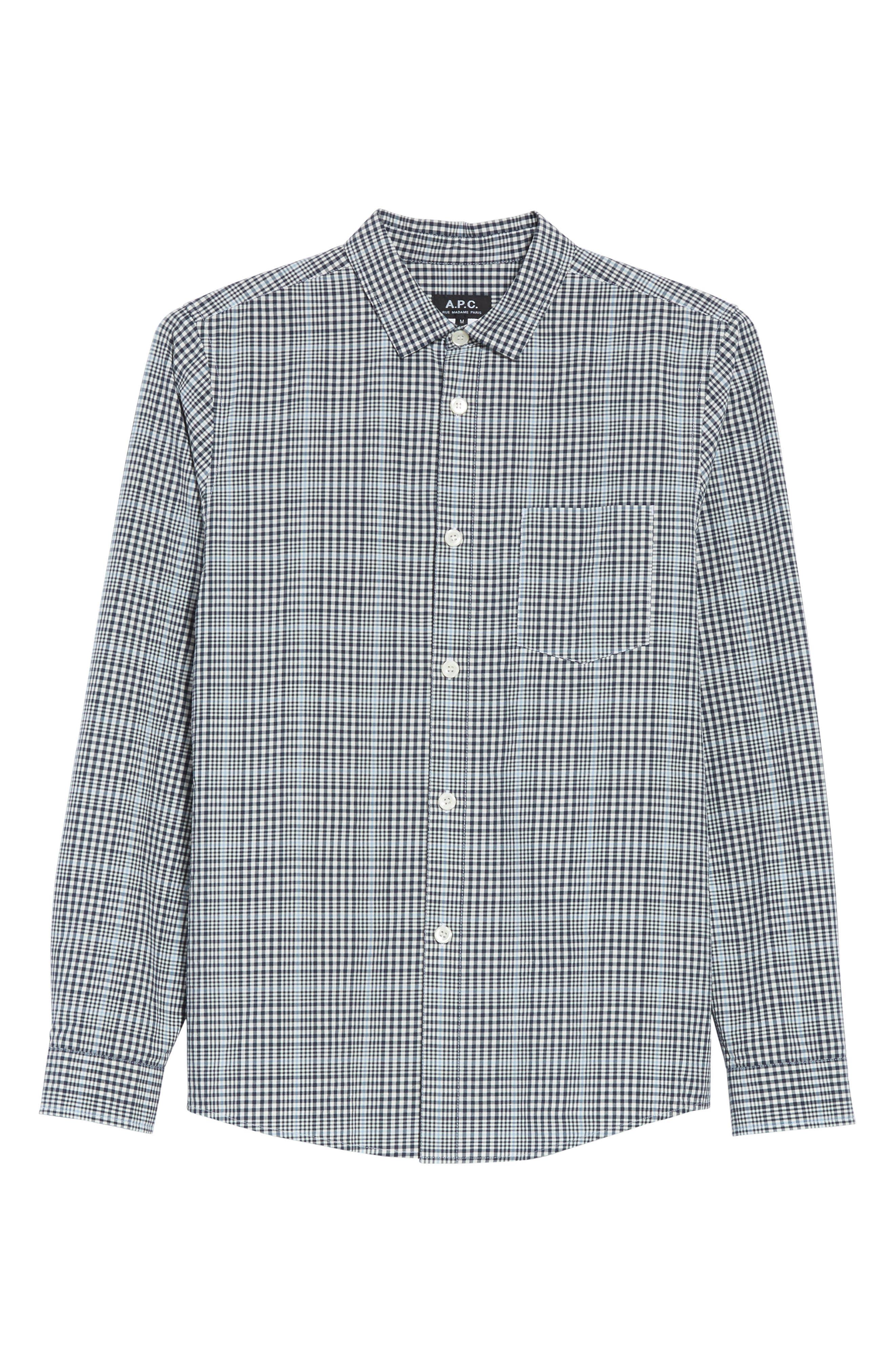Alternate Image 6  - A.P.C. John Check Woven Shirt