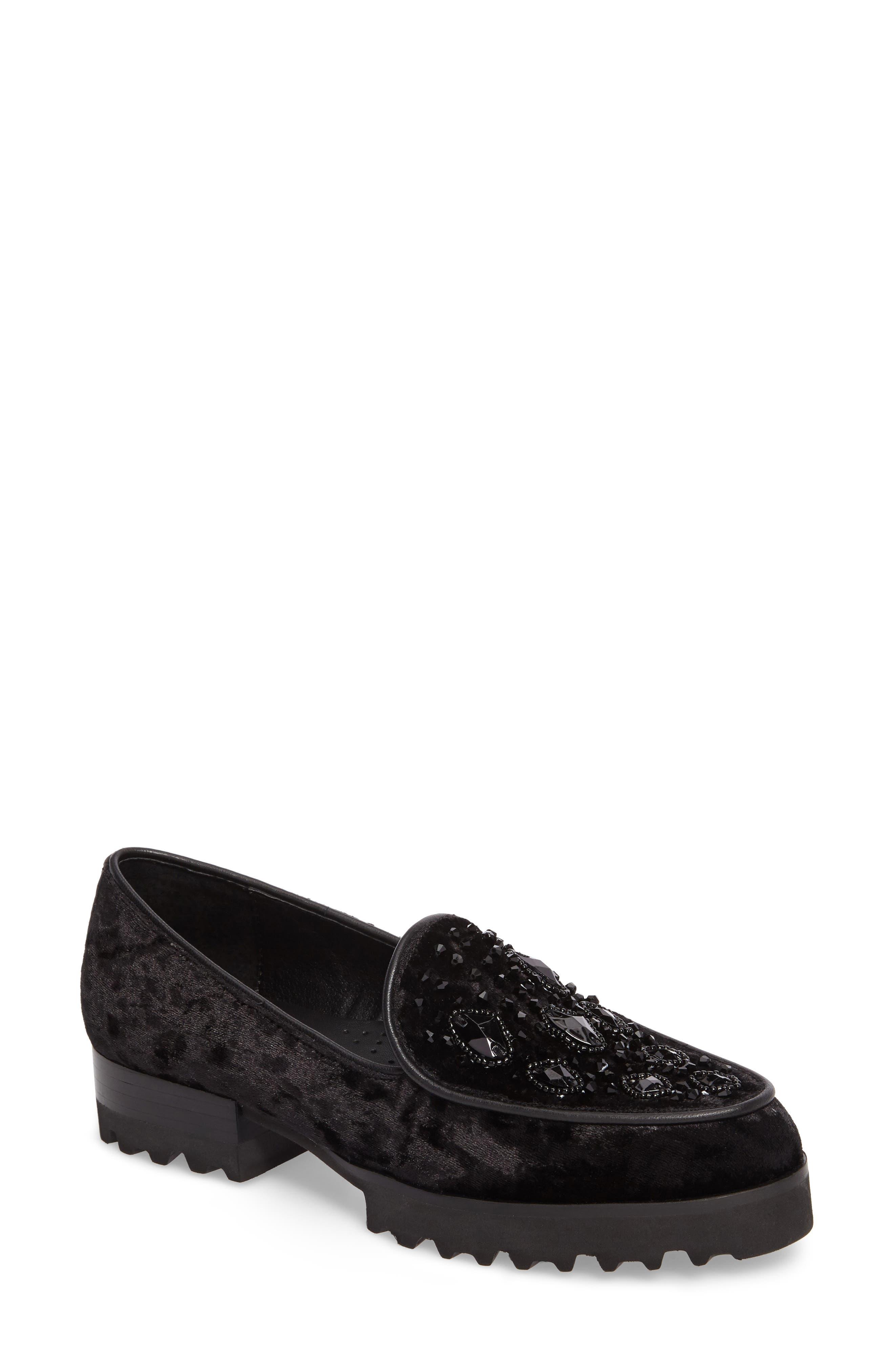 Donald Pliner Elen Beaded Velvet Loafer (Women)