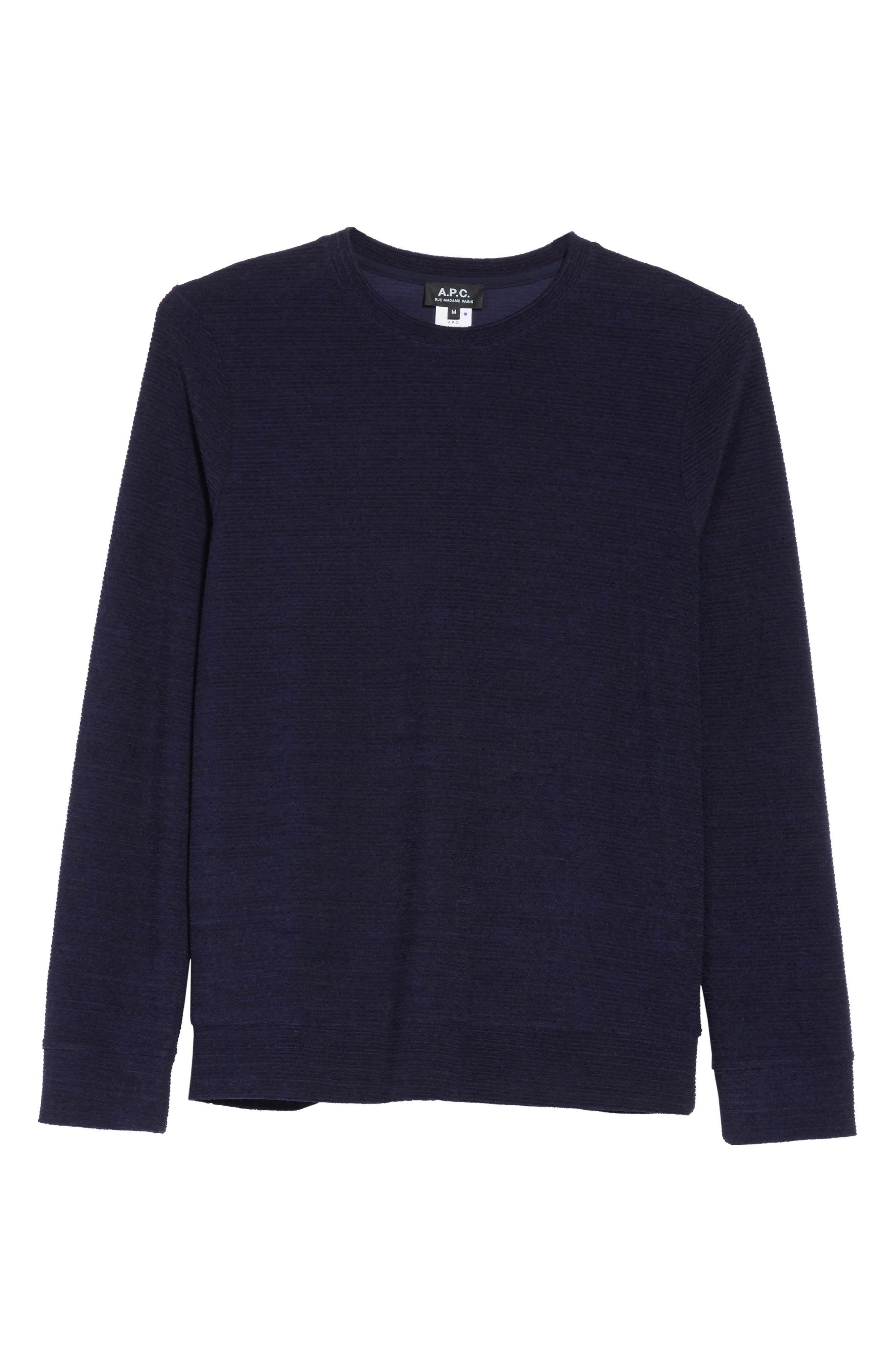 Jeremie Crewneck Sweater,                             Alternate thumbnail 6, color,                             Marine