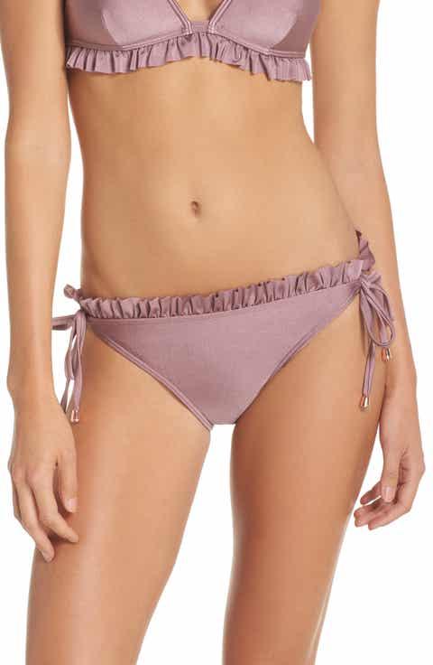 Ted Baker London Frill String Bikini Bottoms