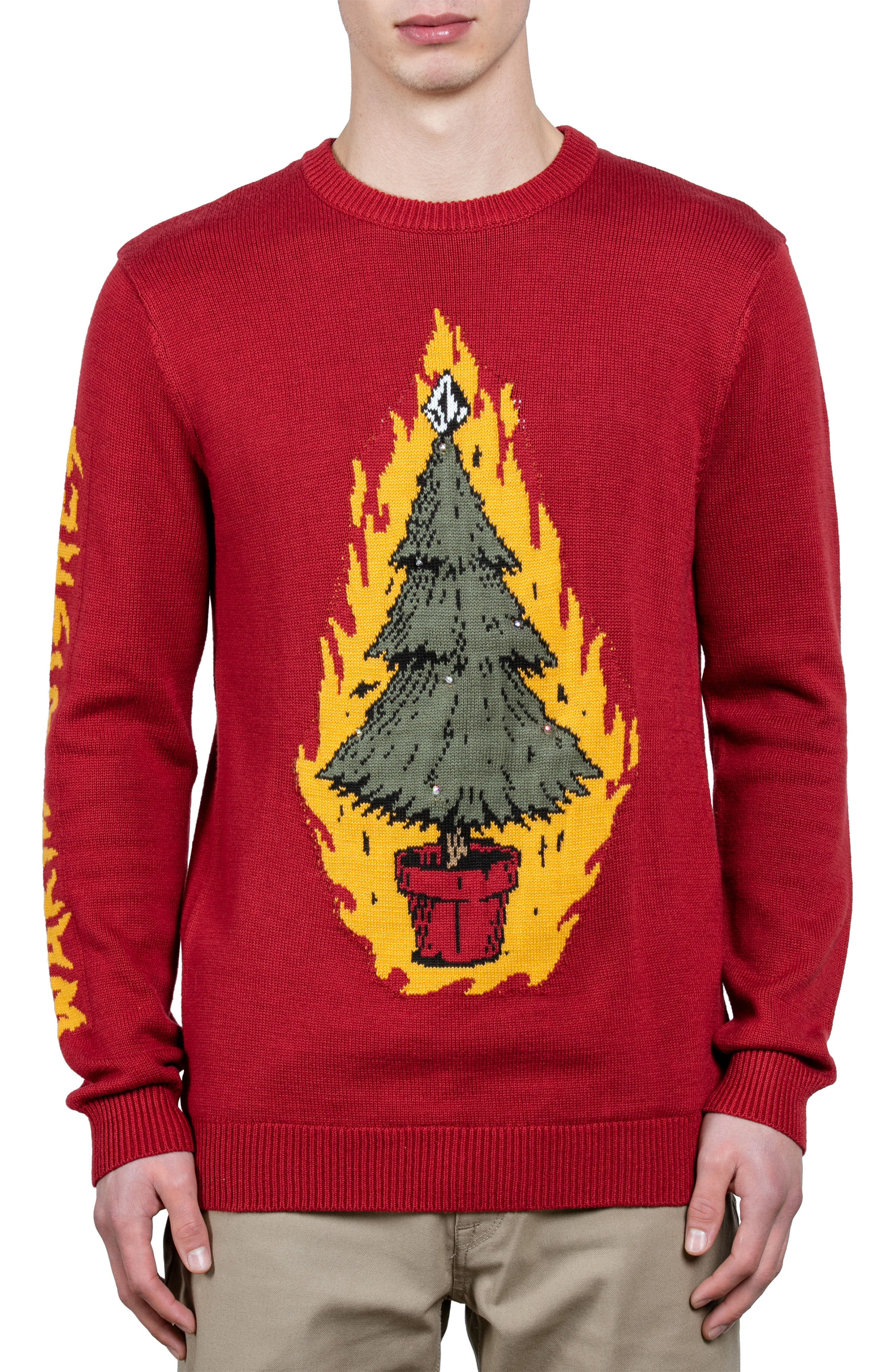 Alternate Image 1 Selected - Volcom Warm Wishes Sweater