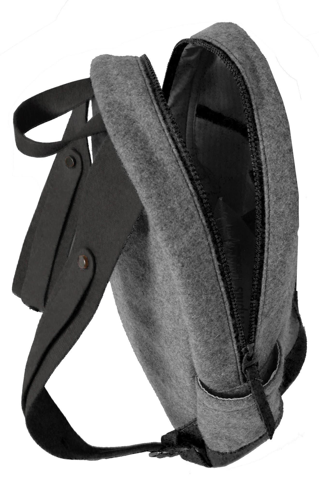 Indie Boiled Wool Backpack,                             Alternate thumbnail 3, color,                             Slate