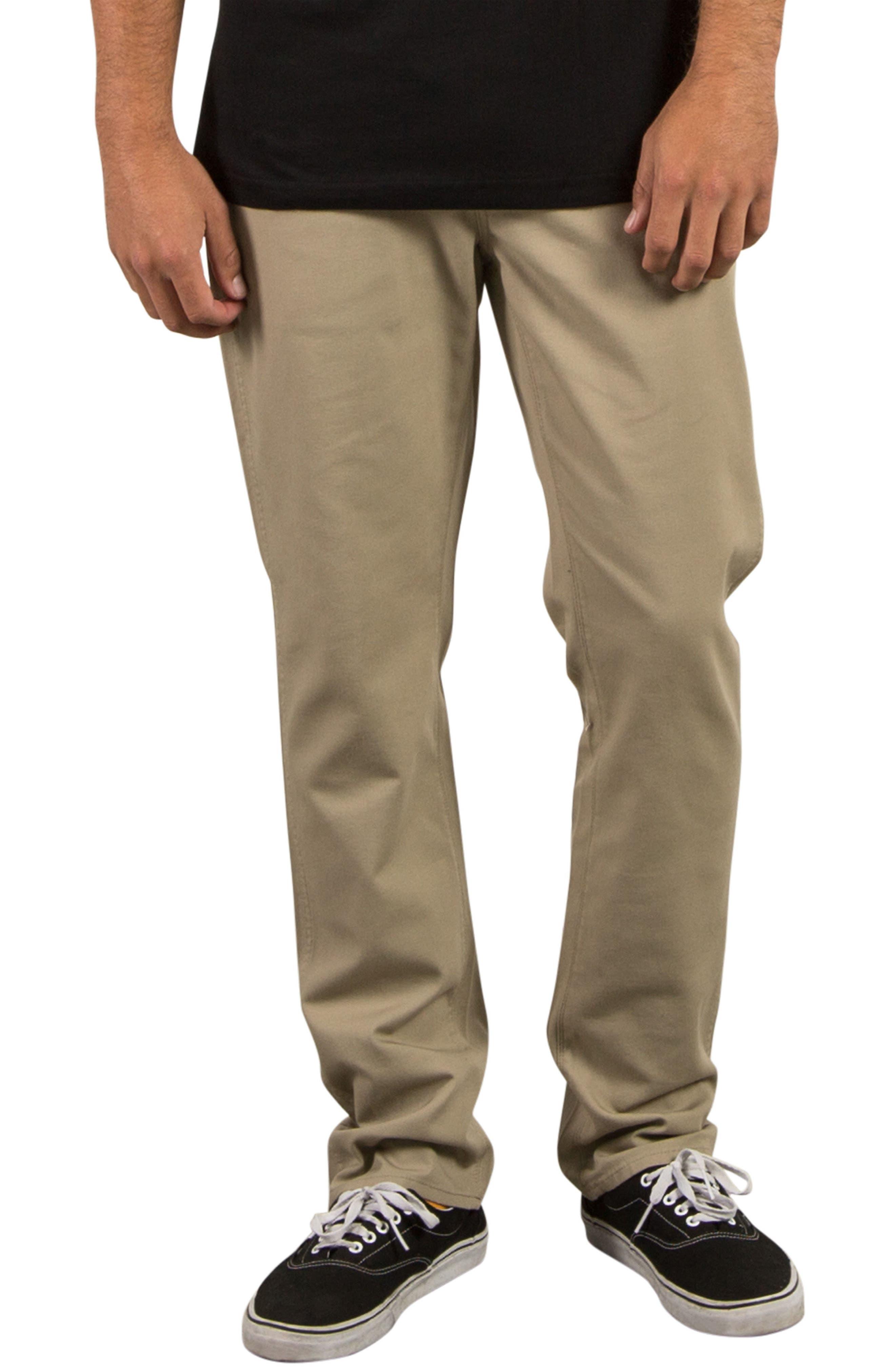 VSM Gritter Slim Chinos,                         Main,                         color, Khaki