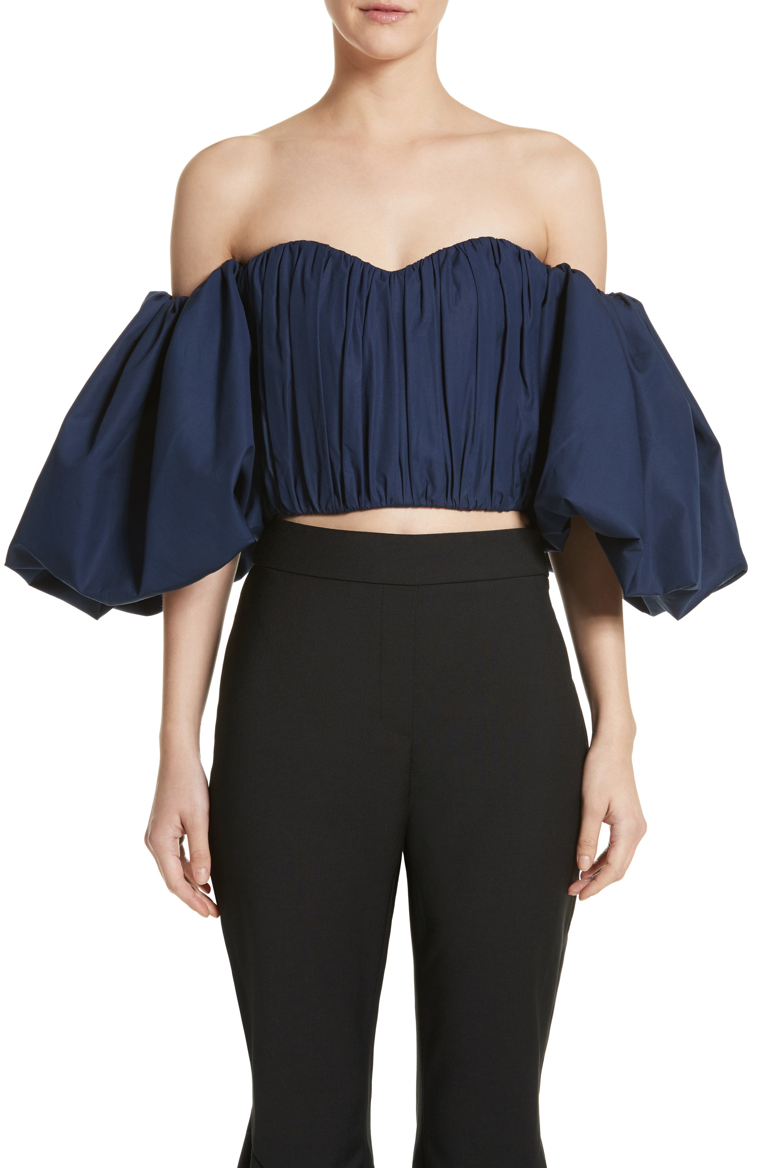 Bachelorette Ruched Corset Top,                         Main,                         color, Navy