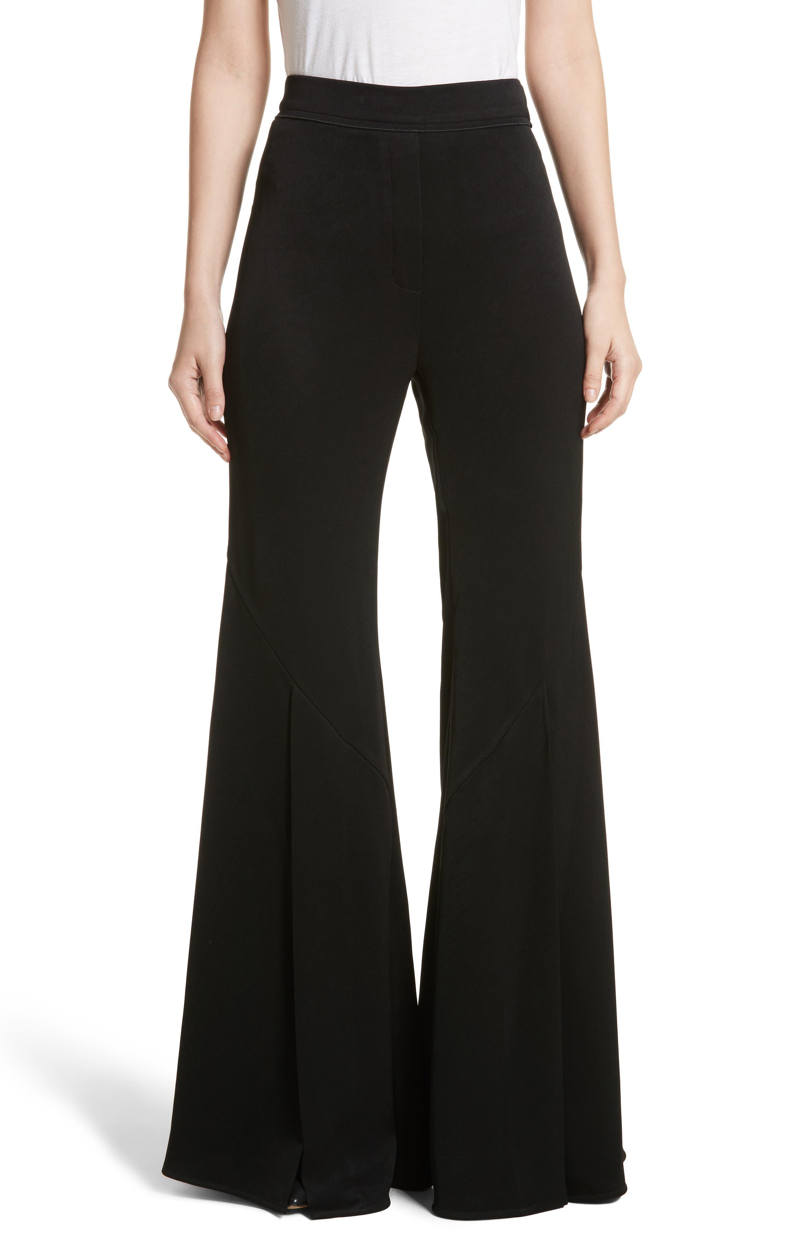 Higher & Higher Wide Flare Leg Pants,                             Main thumbnail 1, color,                             Black