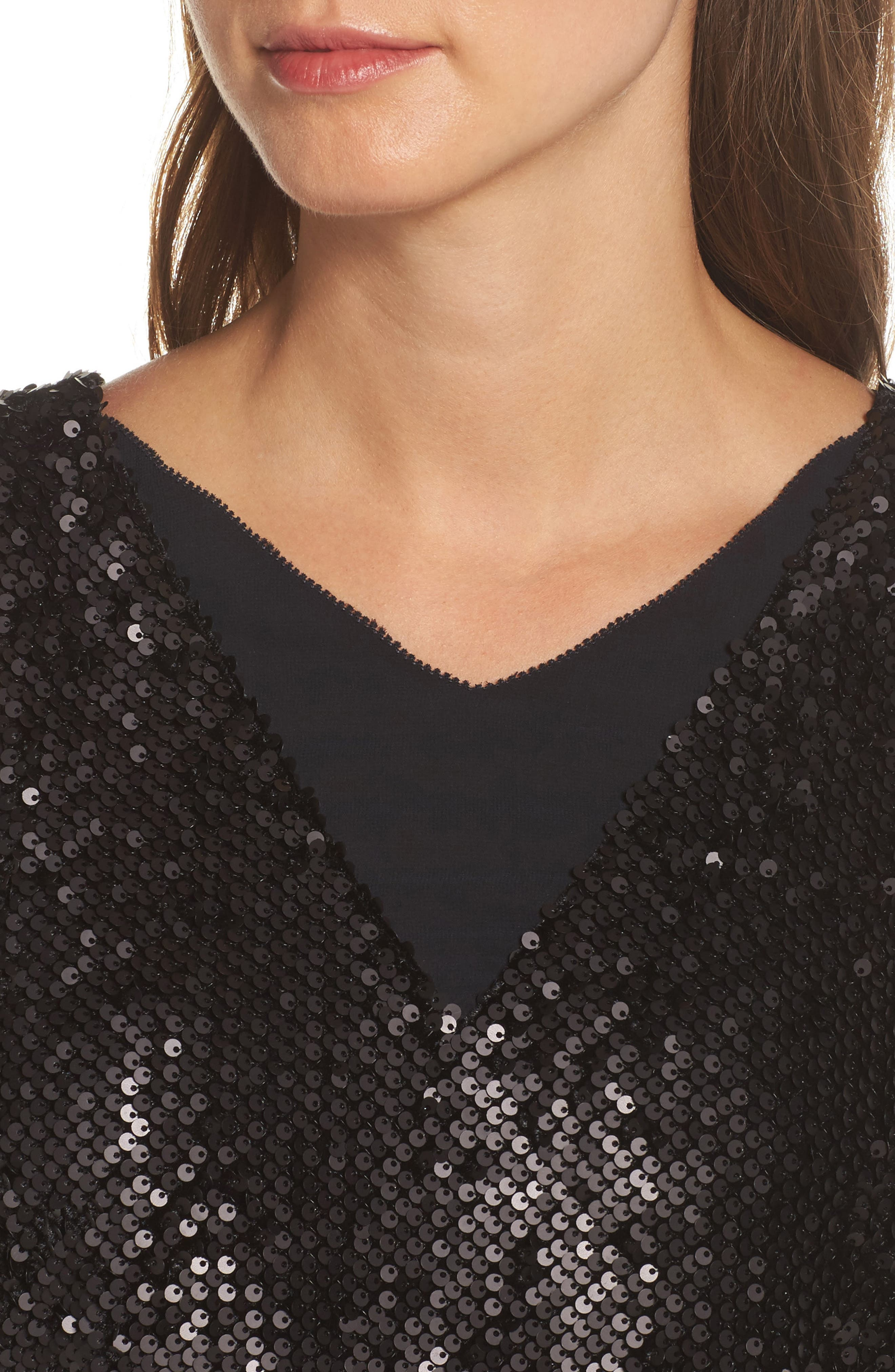 Alternate Image 4  - NIC+ZOE Night Shimmer Sequin Midi Dress