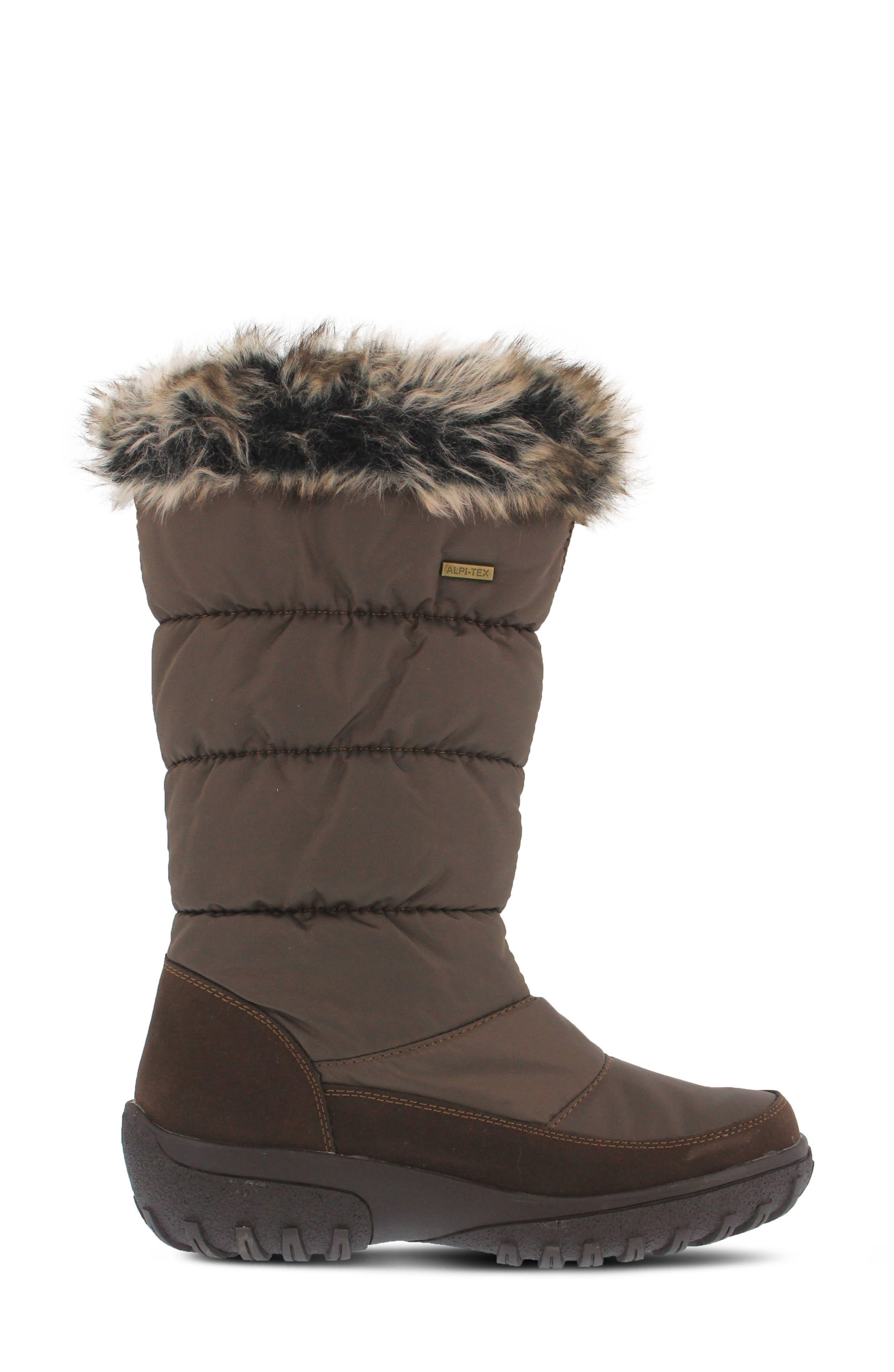 Alternate Image 3  - Spring Step Vanish Faux Fur Trim Waterproof Boot (Women)