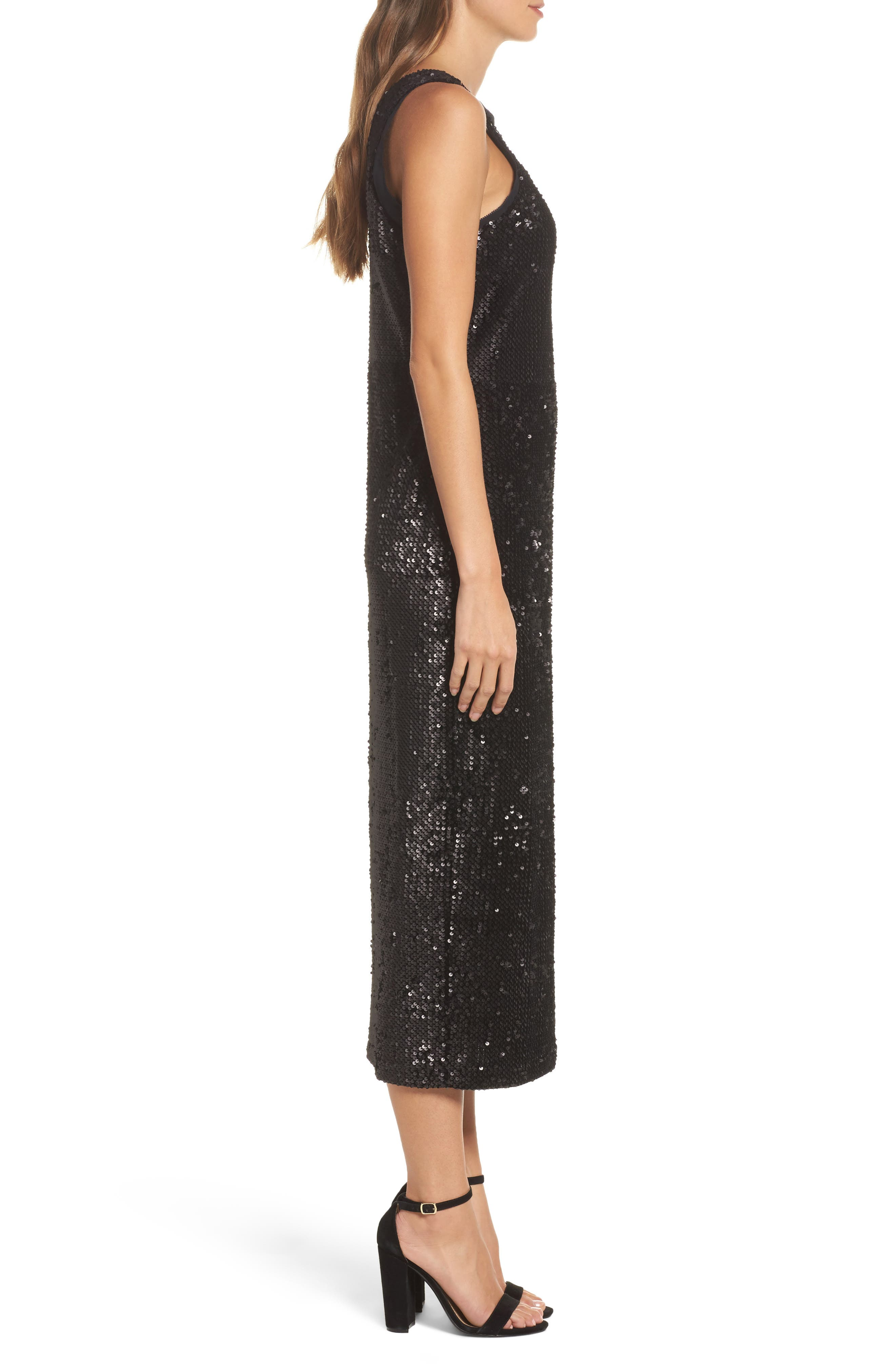 Alternate Image 3  - NIC+ZOE Night Shimmer Sequin Midi Dress