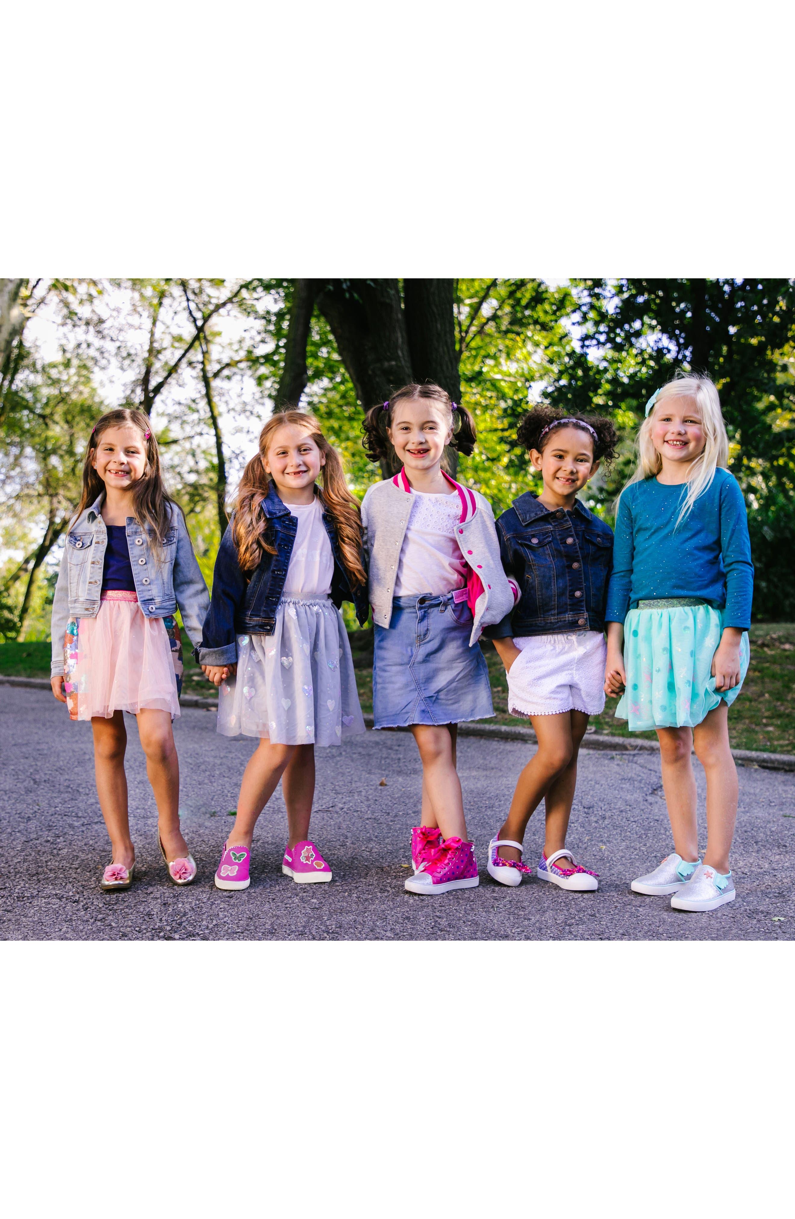 Alternate Image 8  - WellieWishers from American Girl Ashlyn Flower Strap Ballet Flat (Walker & Toddler)