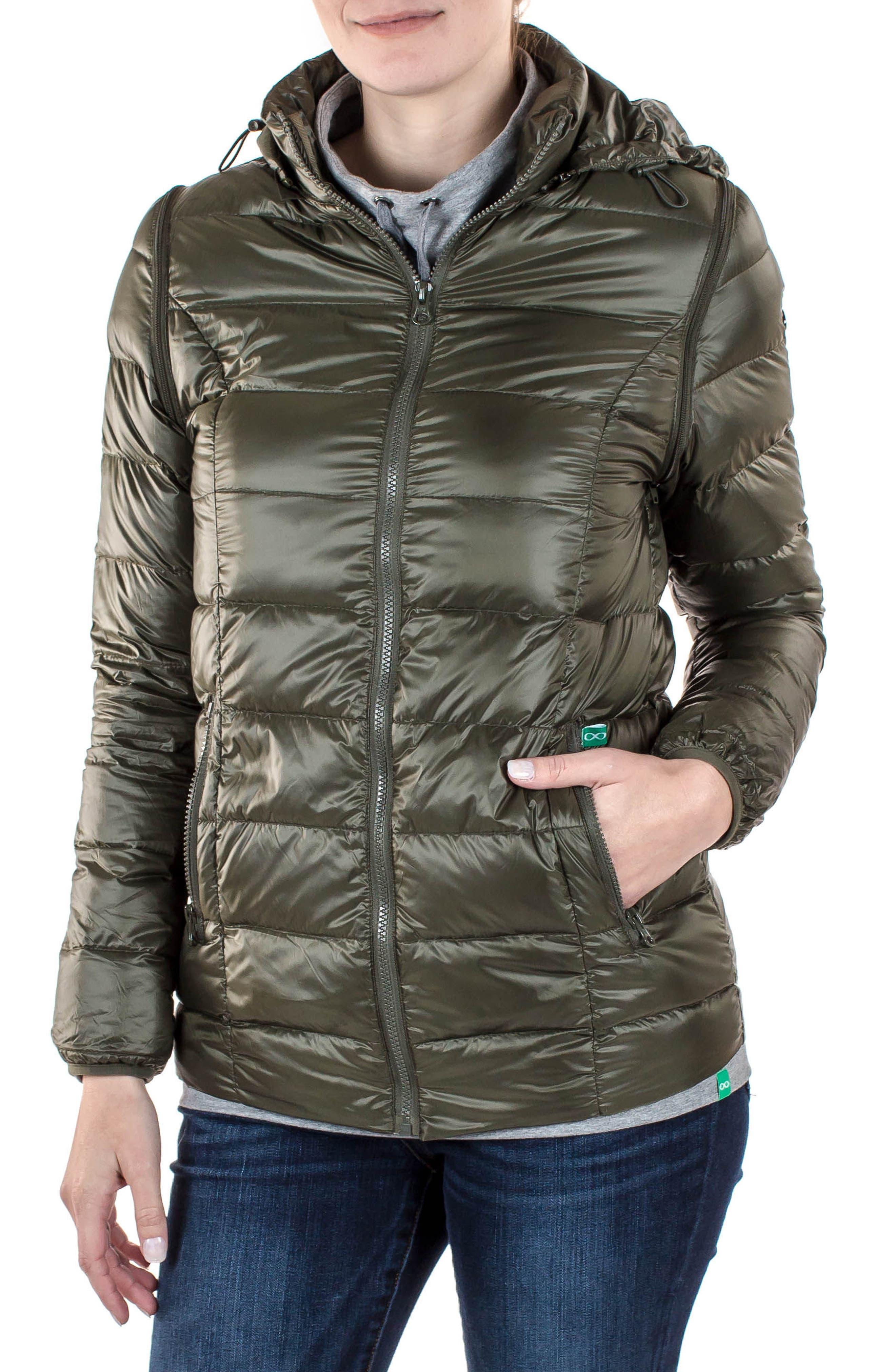 Modern Eternity LightweightPuffer Convertible Maternity Jacket