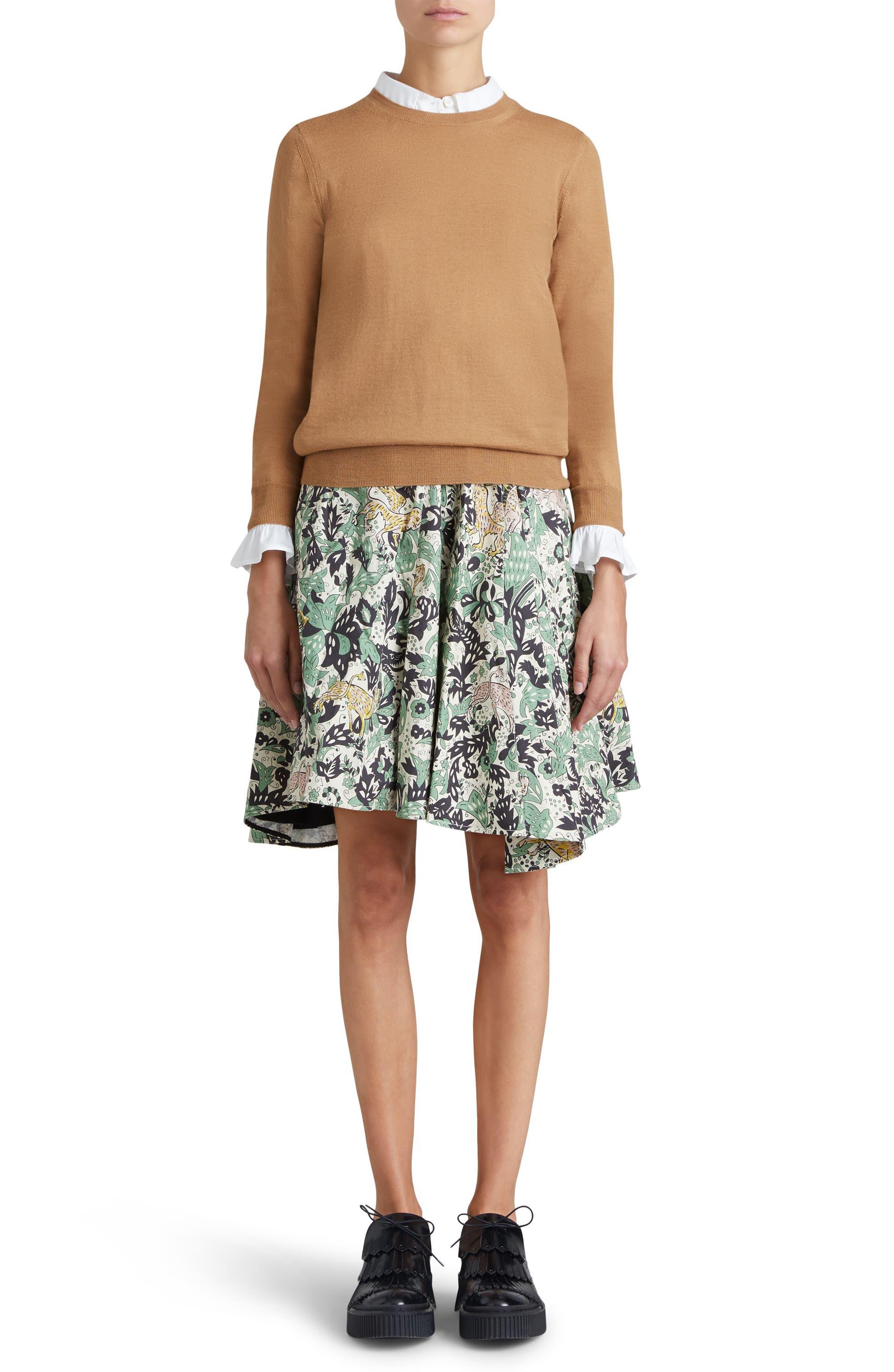 Viar Merino Wool Sweater,                             Alternate thumbnail 5, color,                             Camel