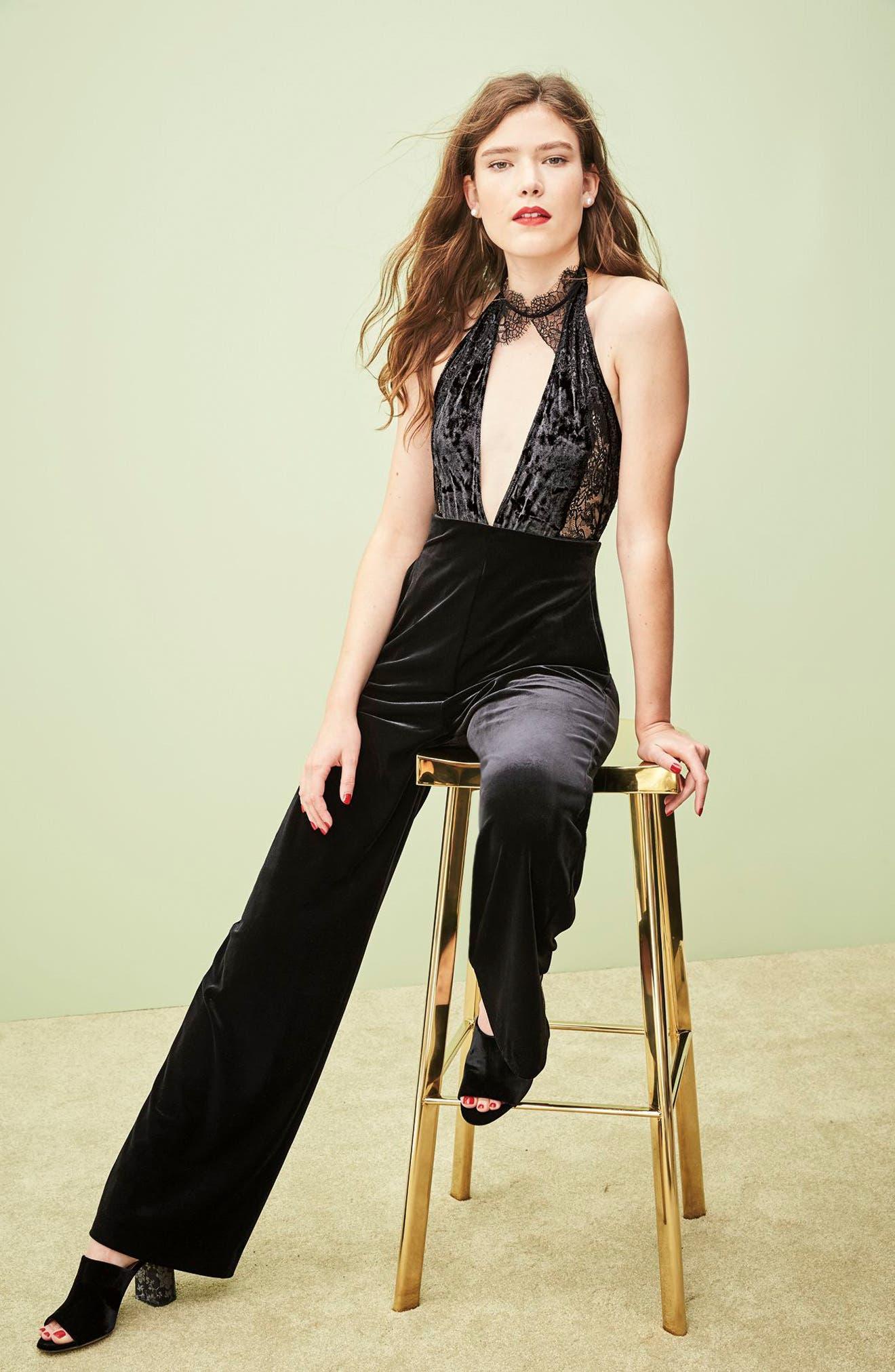 Alternate Image 8  - Eliza J Velvet Trousers