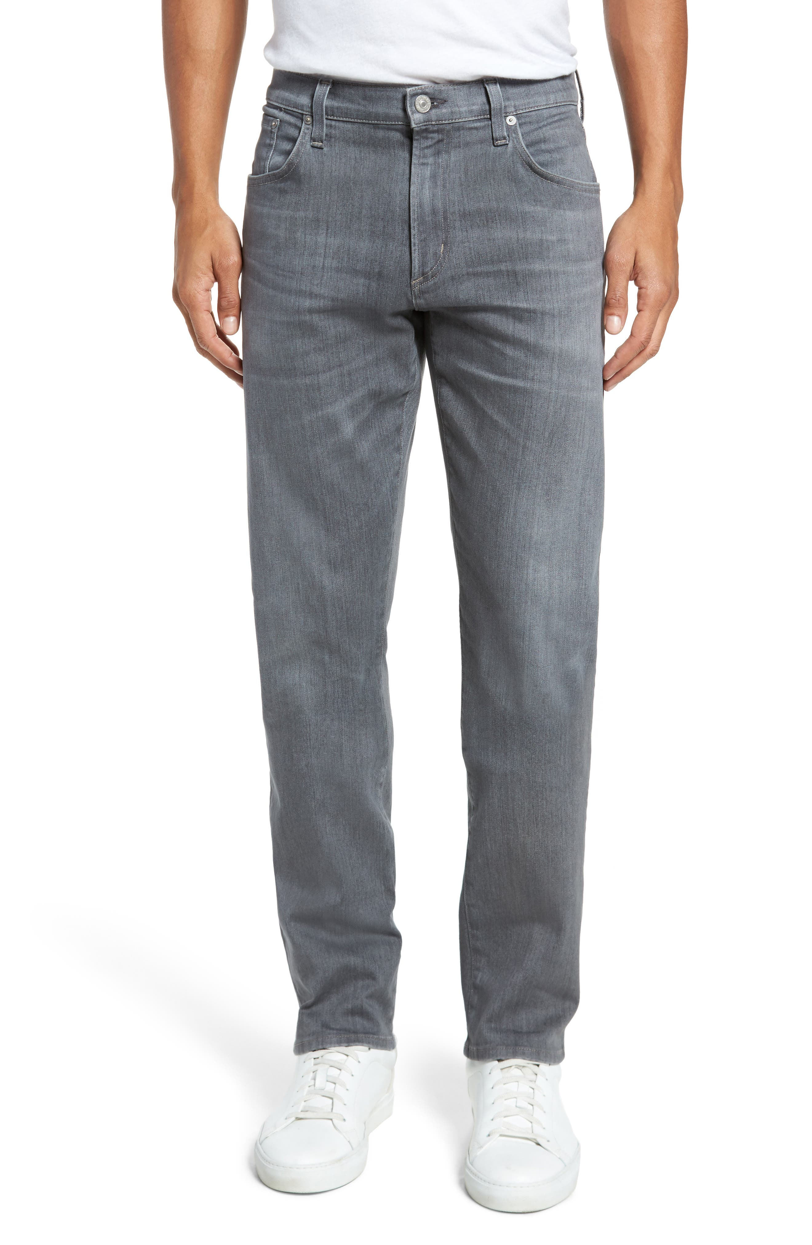 PERFORM - Gage Slim Straight Fit Jeans,                         Main,                         color, Gull Grey
