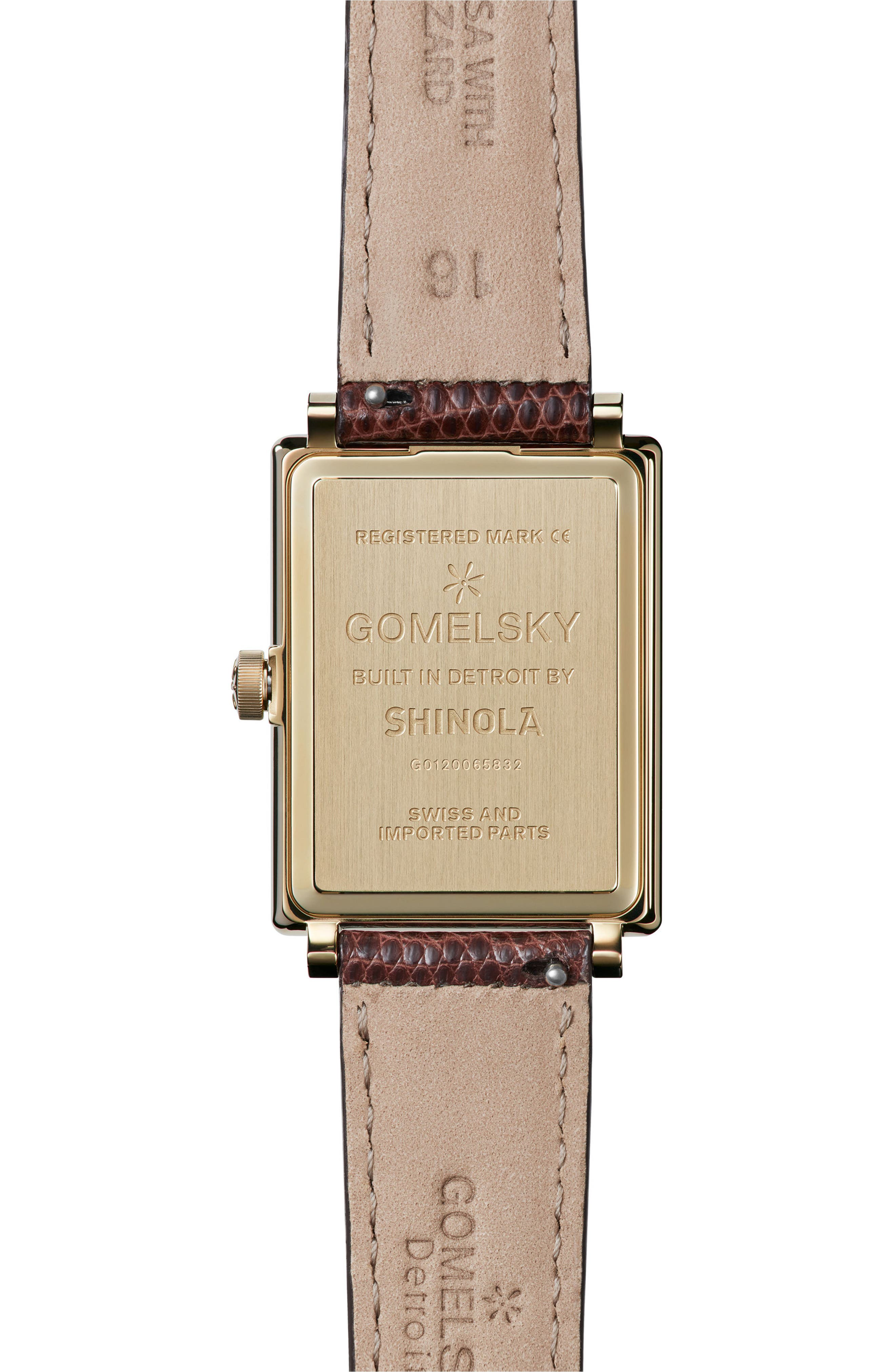 Alternate Image 2  - Gomelsky The Shirley Fromer Leather Strap Watch, 32mm x 25mm