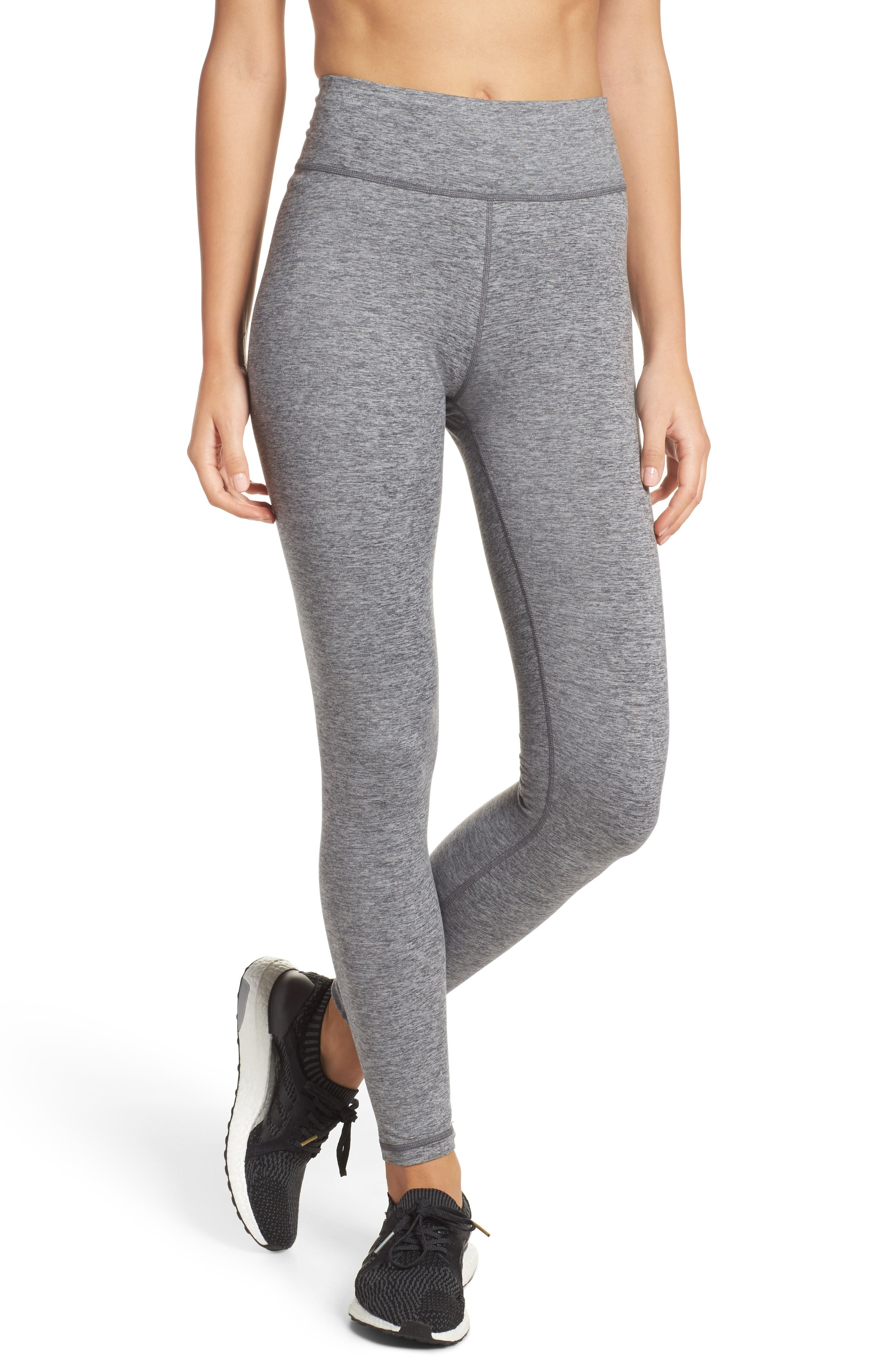 Performer Climalite<sup>®</sup> High Waist Leggings,                         Main,                         color, Grey Five