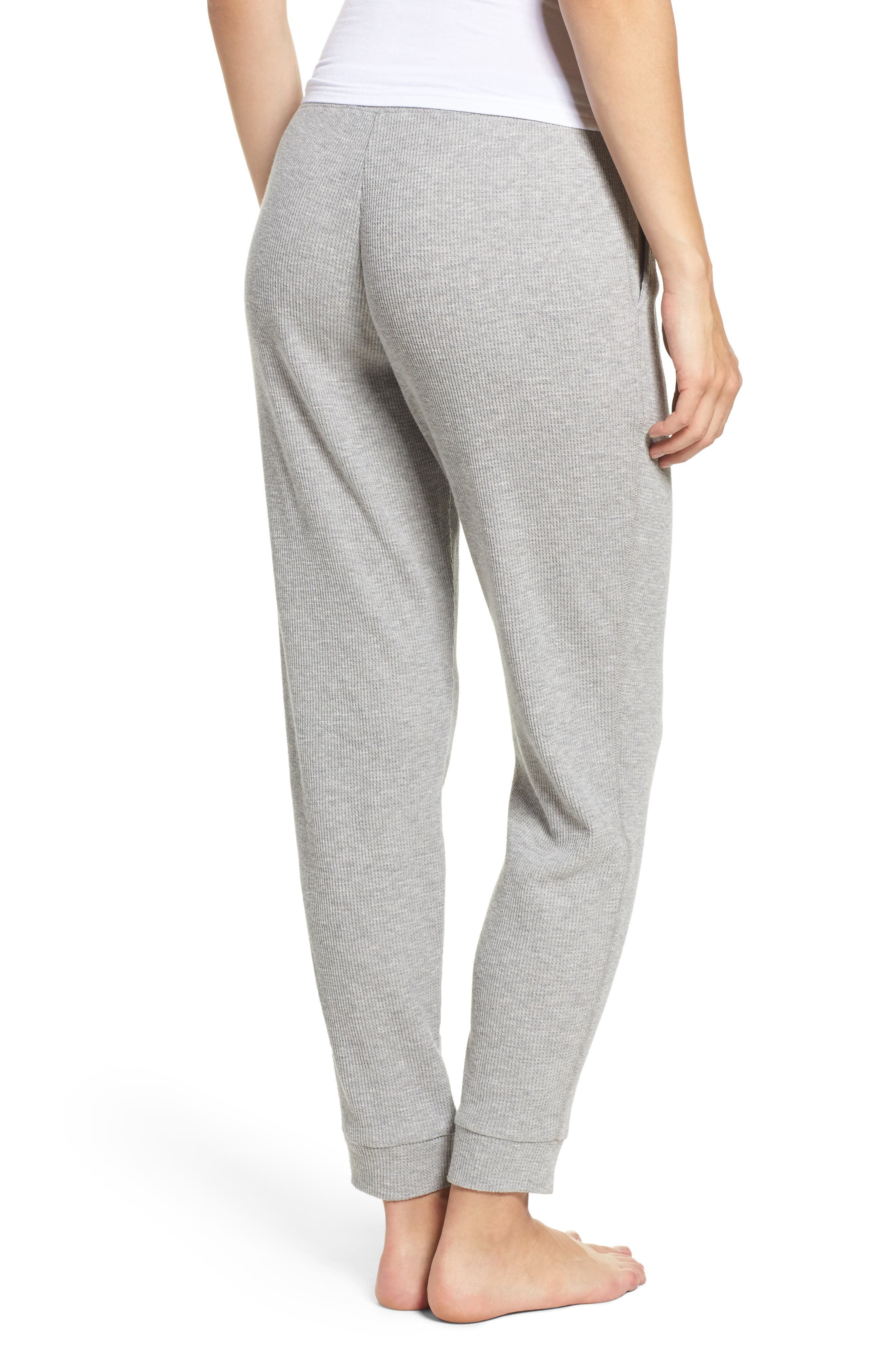 Alternate Image 2  - skin Ily Waffle Knit Lounge Pants