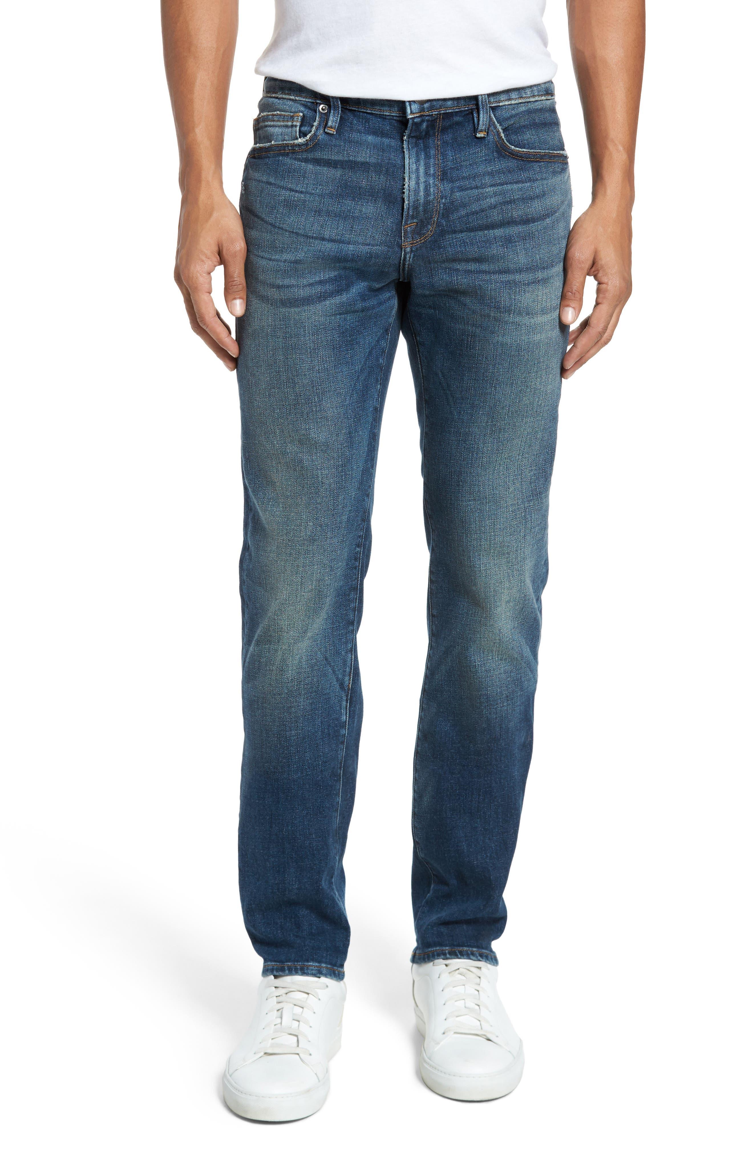L'Homme Slim Fit Jeans,                             Main thumbnail 1, color,                             Salt Lake