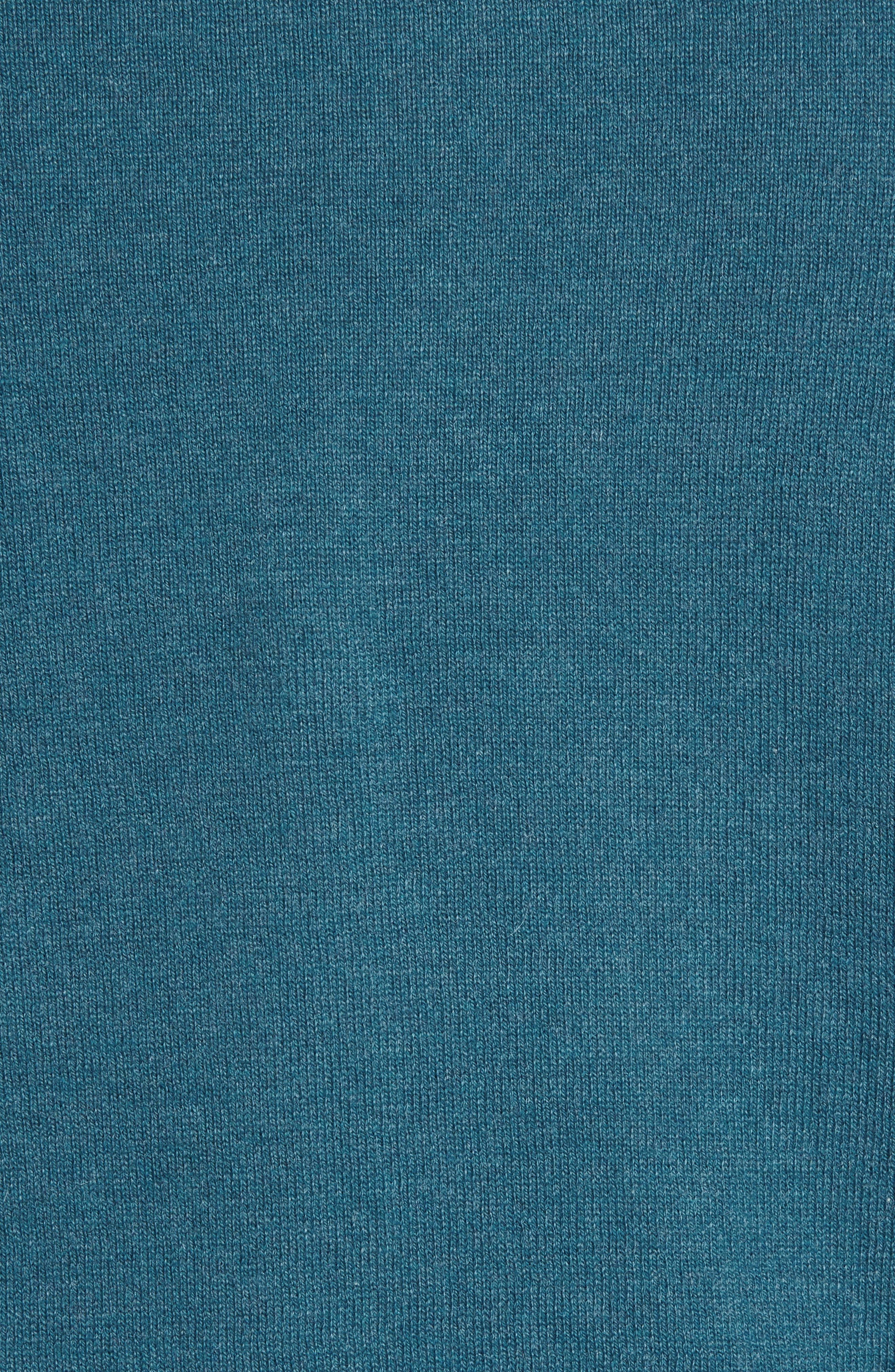 Half Zip Cotton & Cashmere Pullover,                             Alternate thumbnail 5, color,                             Teal Moroccan