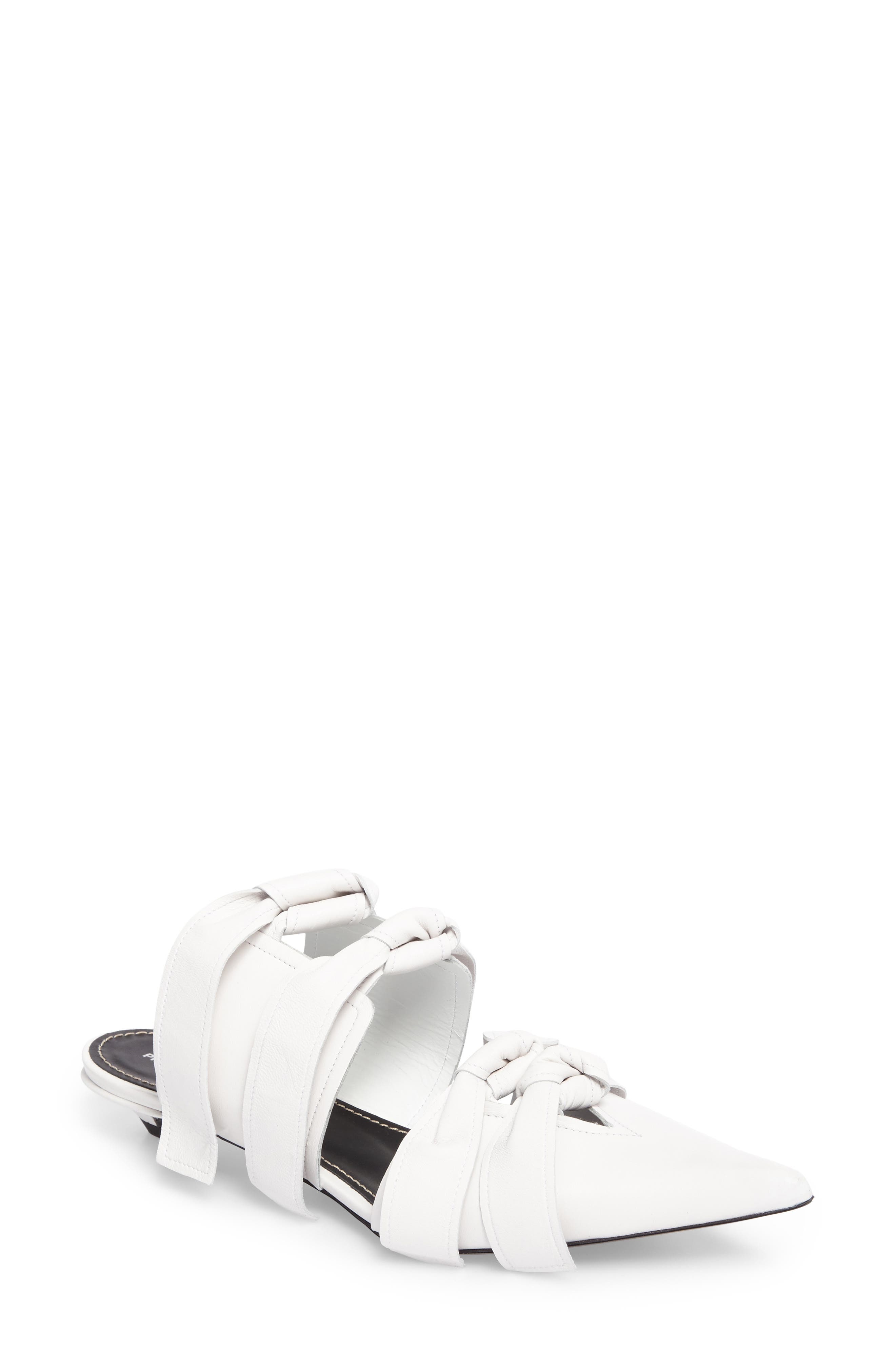 Pointy Toe Mule,                         Main,                         color, White
