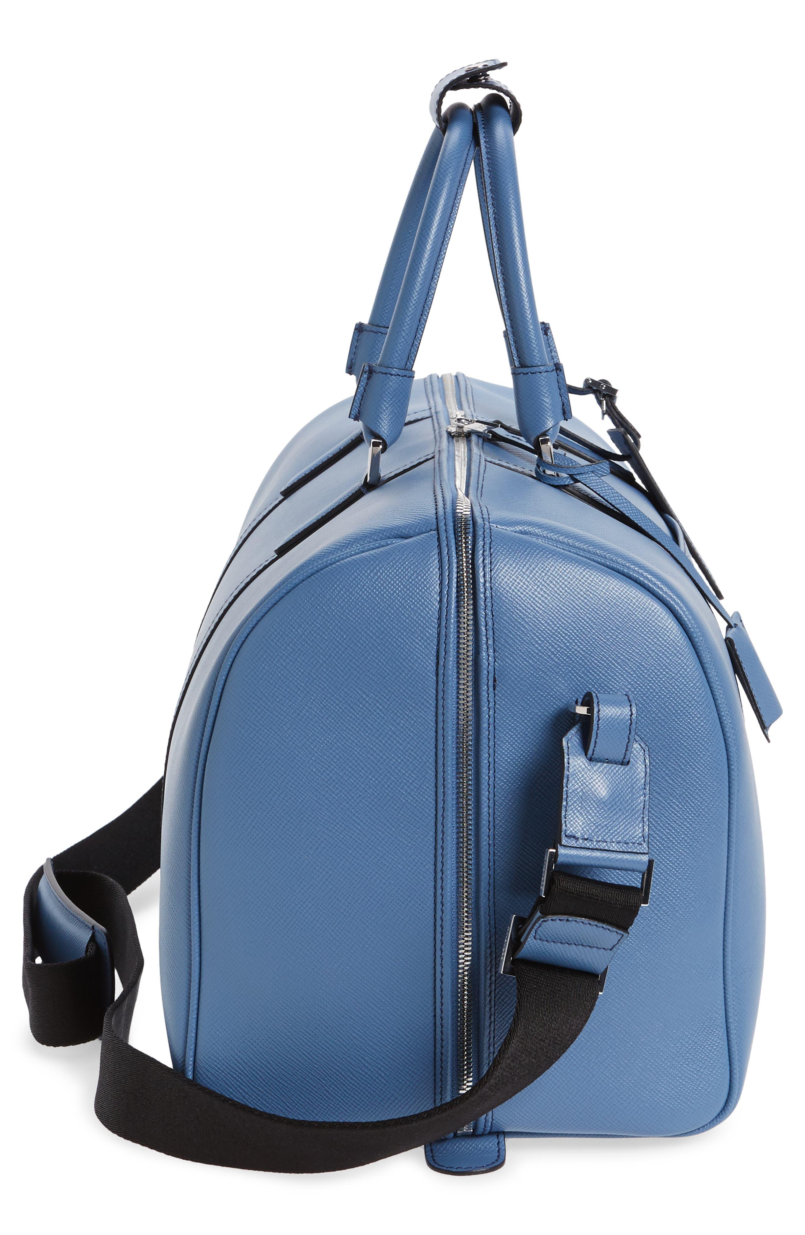 Alternate Image 5  - Serapian Milano Small Evolution Leather Duffel Bag