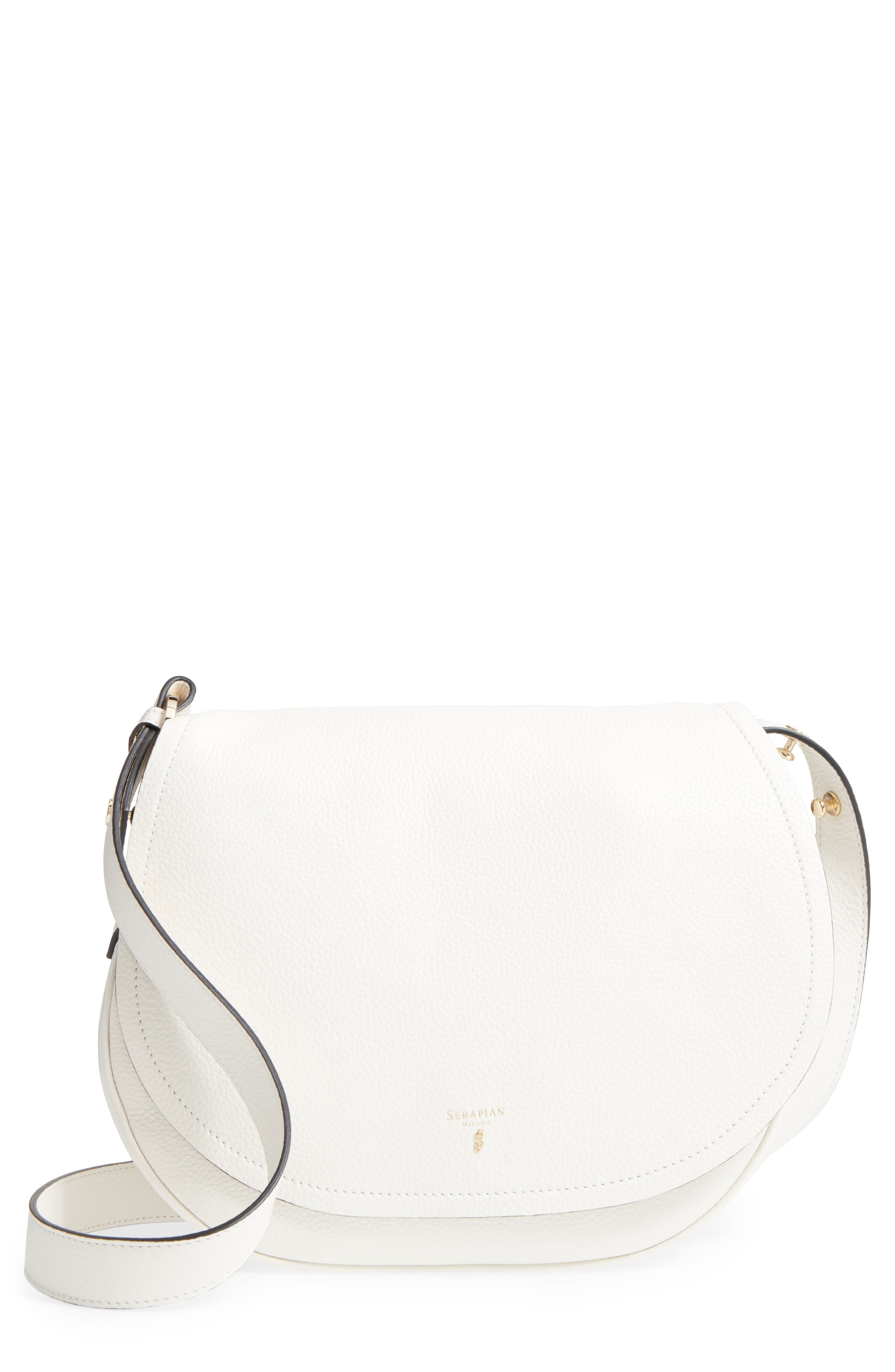 Serapian Milano Small Valeria Leather Crossbody Bag
