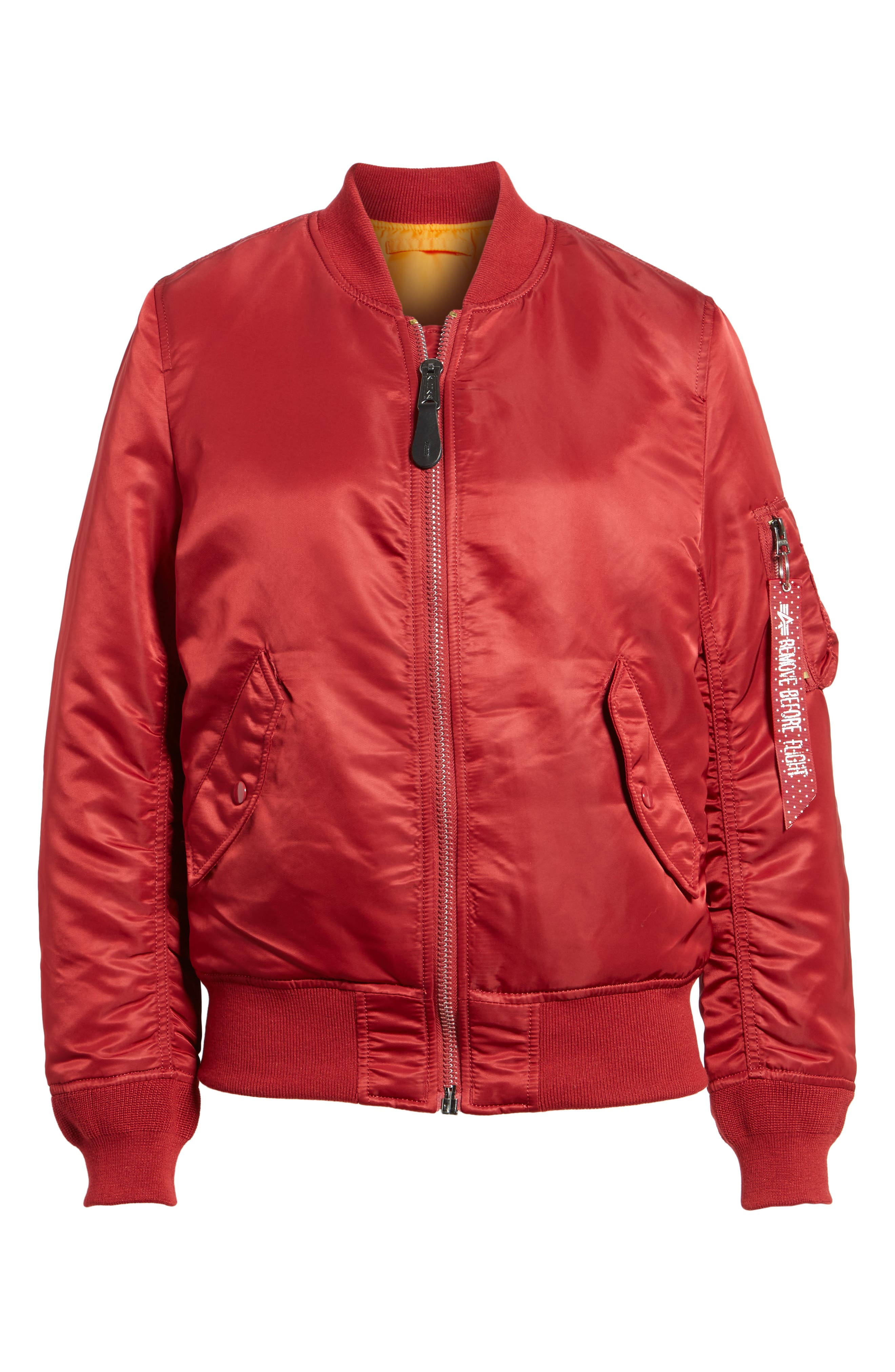 MA-1 W Bomber Jacket,                             Alternate thumbnail 5, color,                             Commander Red