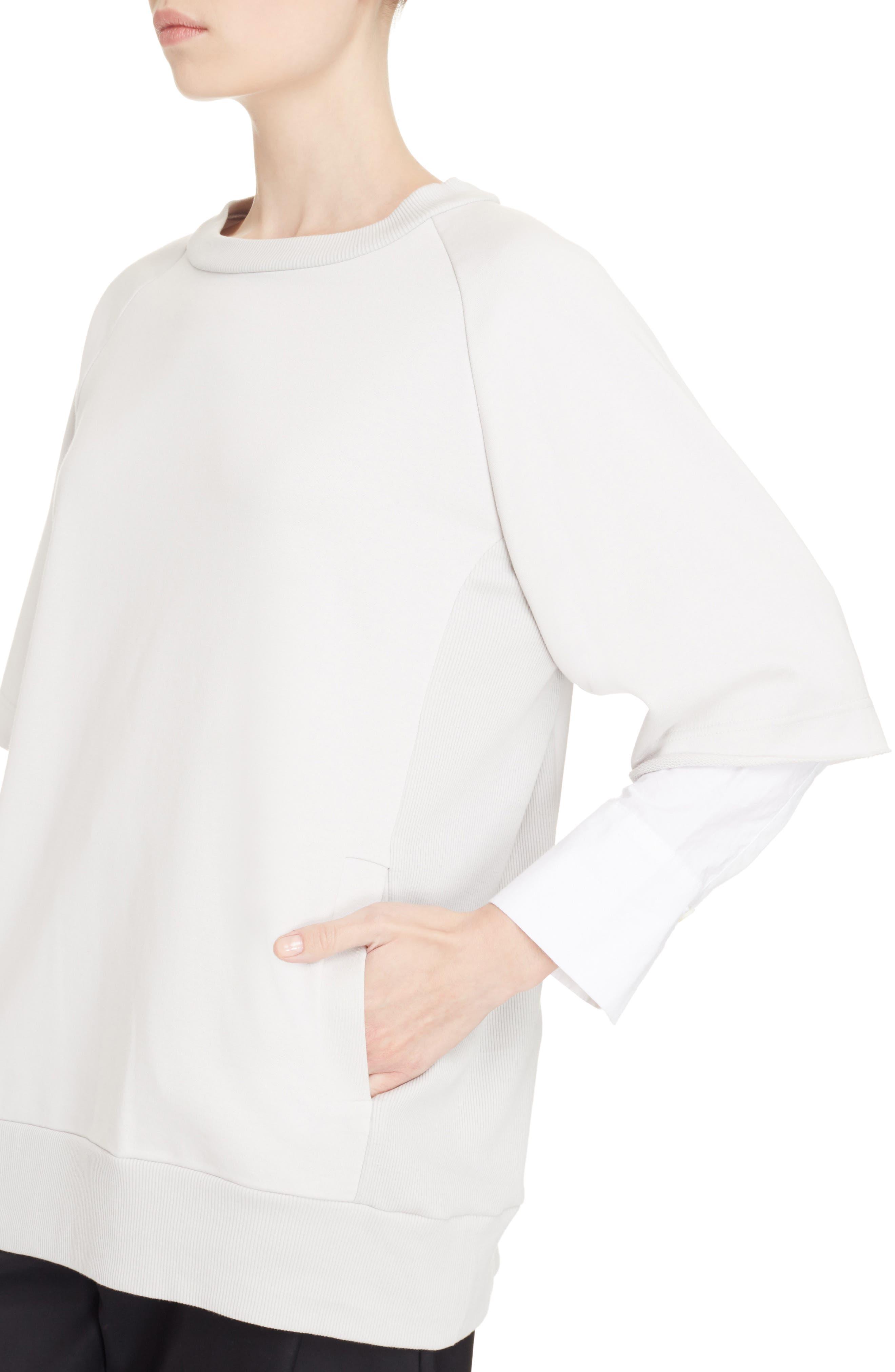 Alternate Image 4  - Y's by Yohji Yamamoto Double Sleeve Sweatshirt