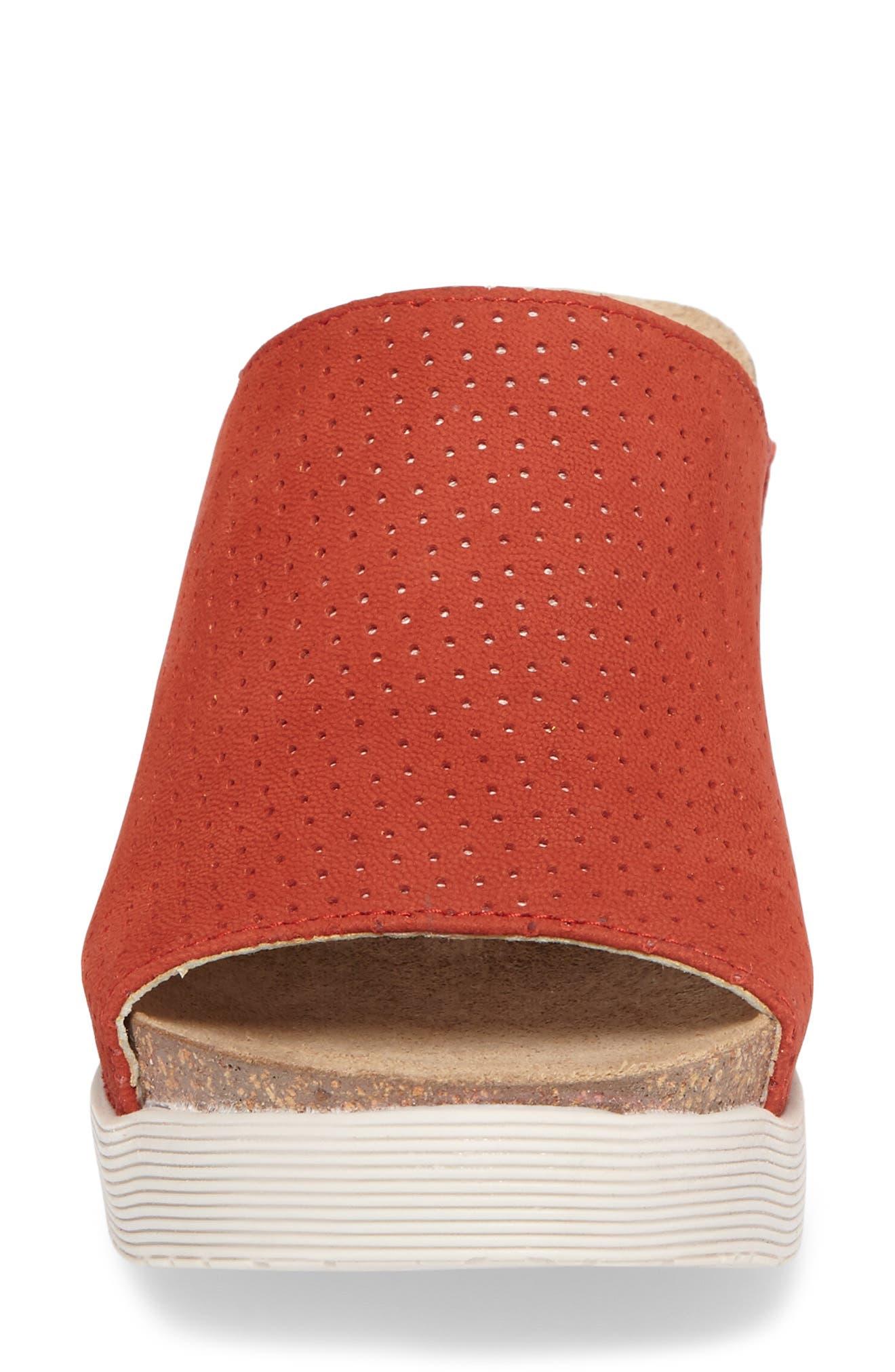 Whin Platform Sandal,                             Alternate thumbnail 4, color,                             Scarlet Cupido Leather