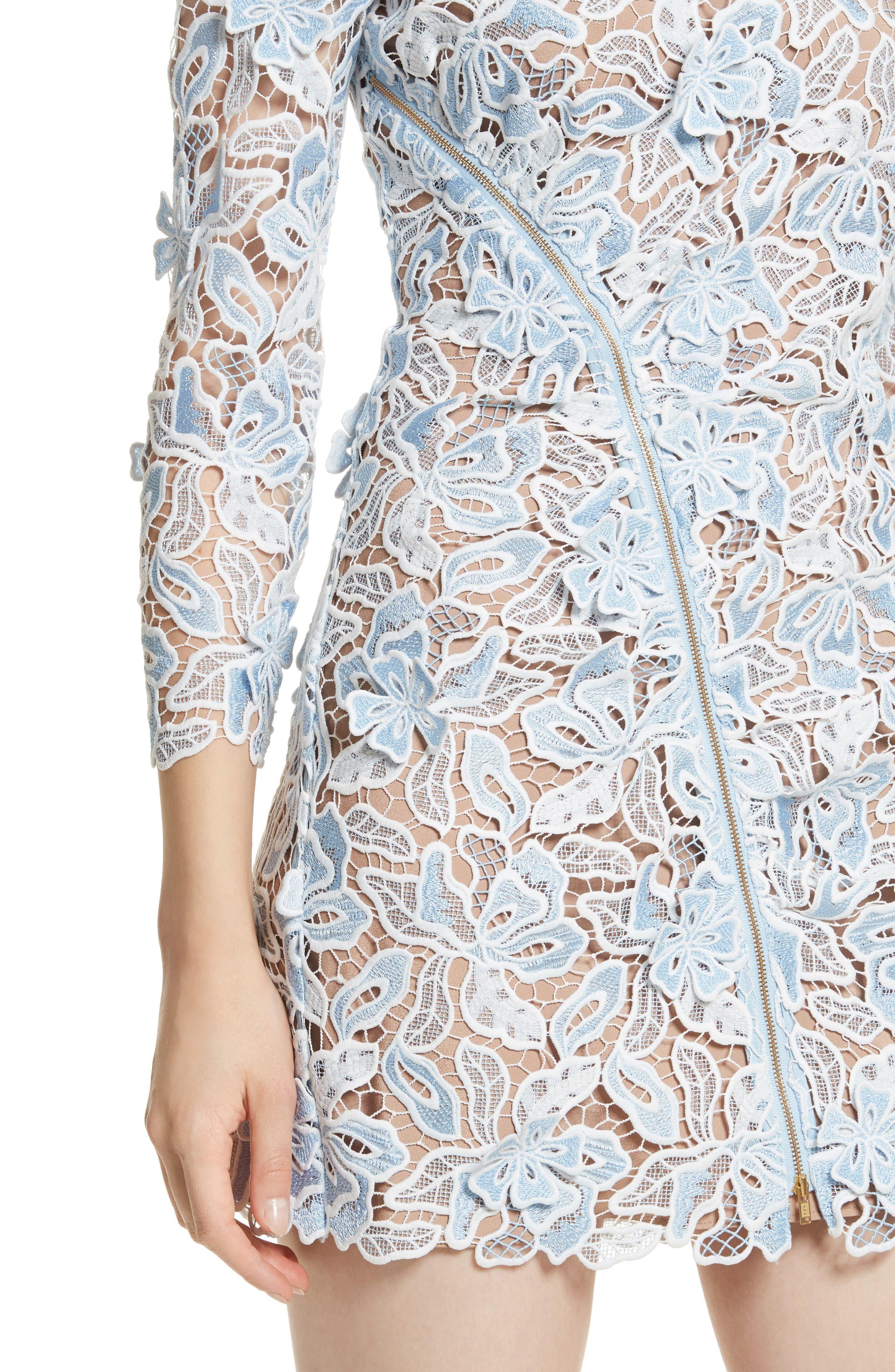 Alternate Image 4  - Self-Portrait Lily 3D Lace Minidress