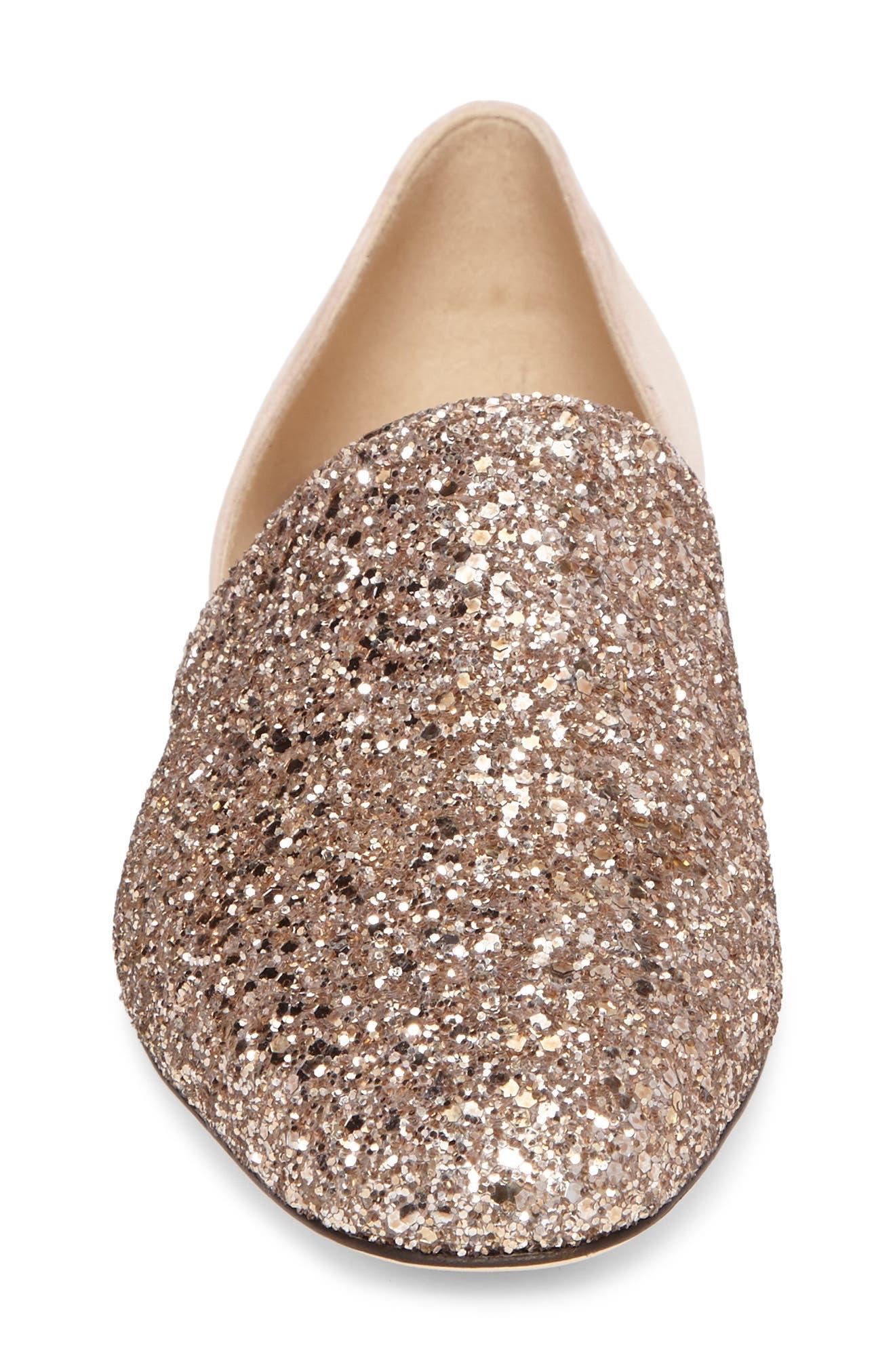 Alternate Image 4  - Jimmy Choo Globe Glitter Flat (Women)