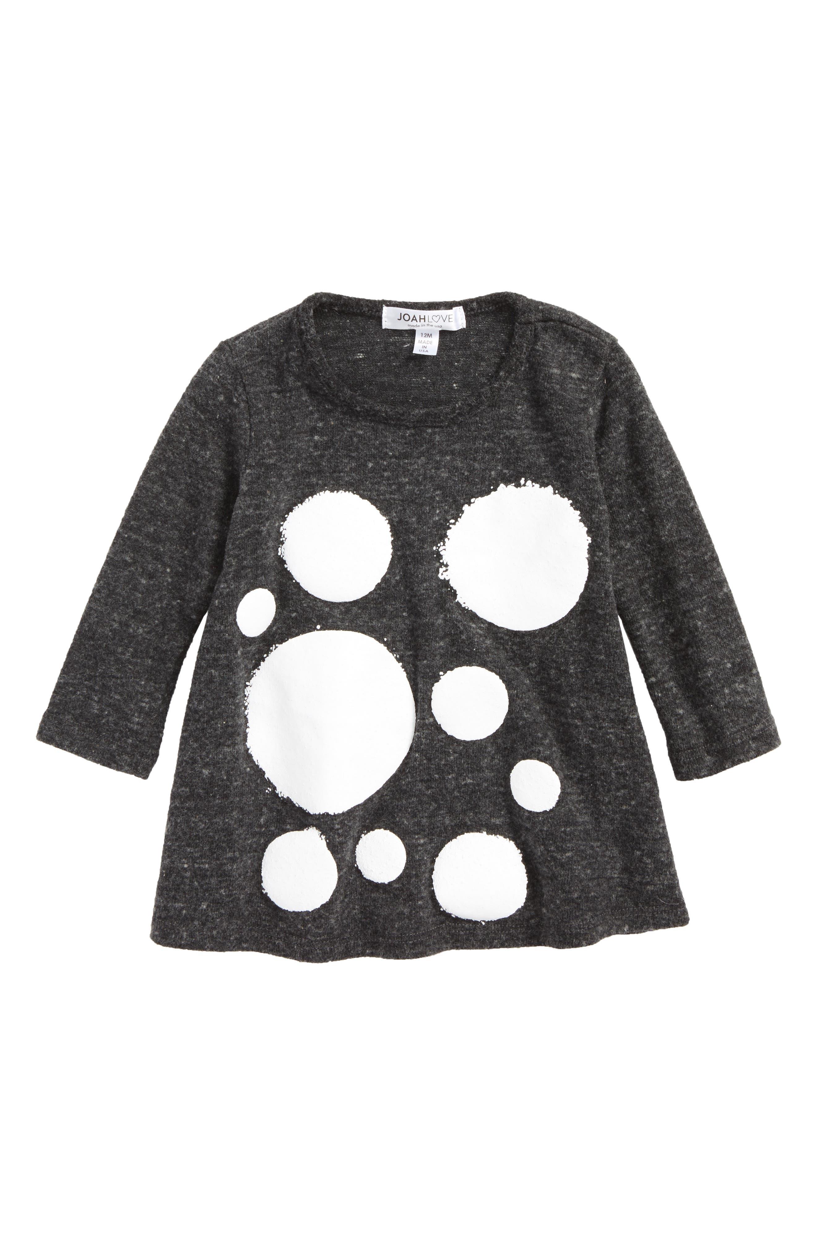 Print Sweater Dress,                             Main thumbnail 1, color,                             Charcoal