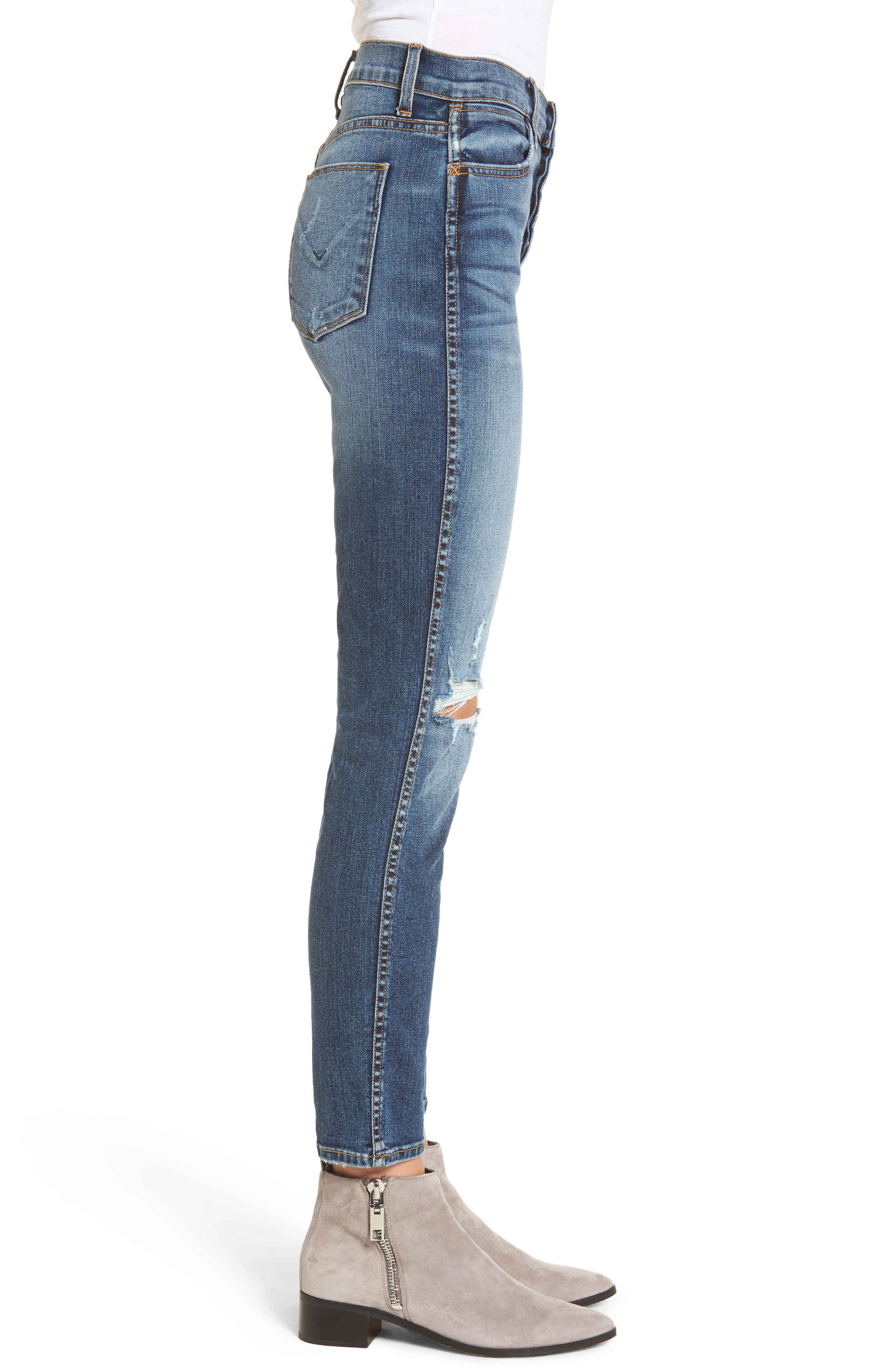 Alternate Image 3  - Hudson Jeans Holly High Waist Ankle Skinny Jeans