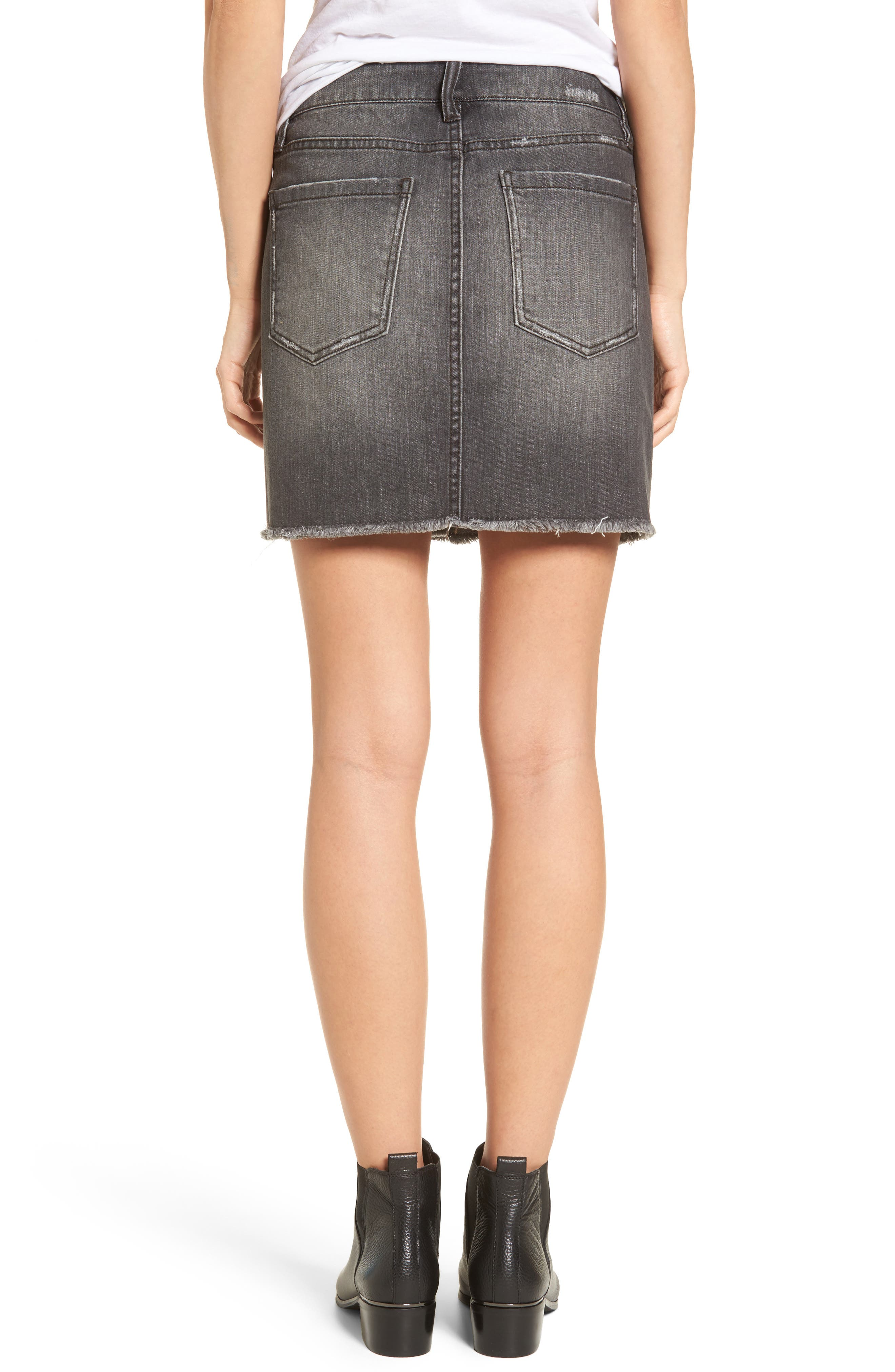 Alternate Image 2  - Tinsel Imitation Pearl Detail Skirt