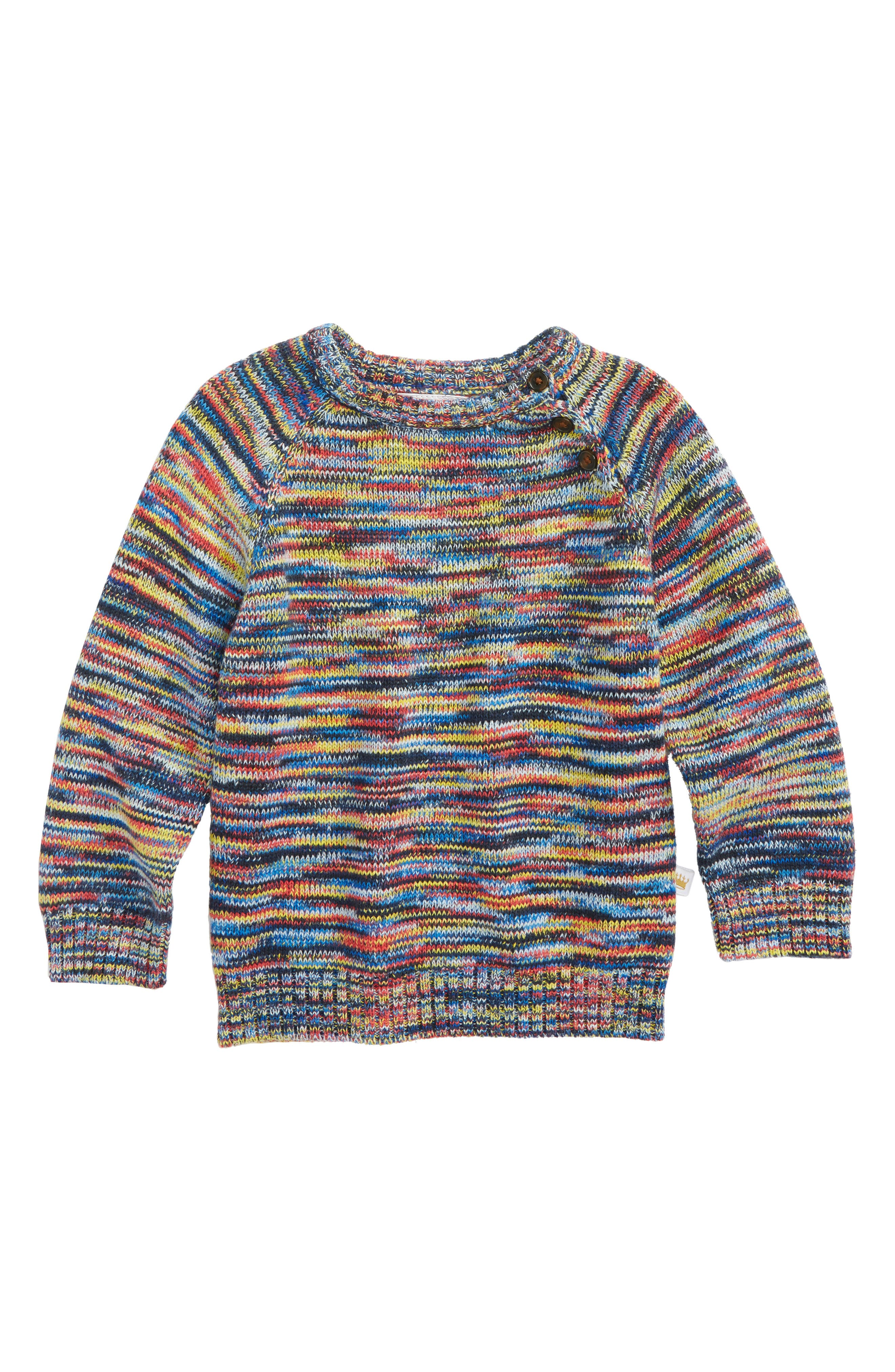 Rosie Pope Marled Knit Sweater (Baby Boys)