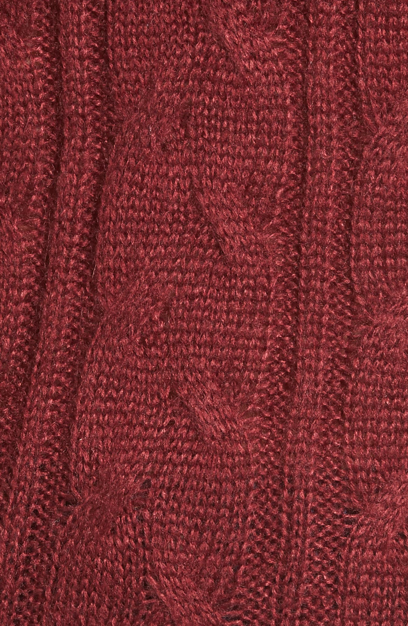Sheldon Off the Shoulder Sweater,                             Alternate thumbnail 5, color,                             Red Tannin