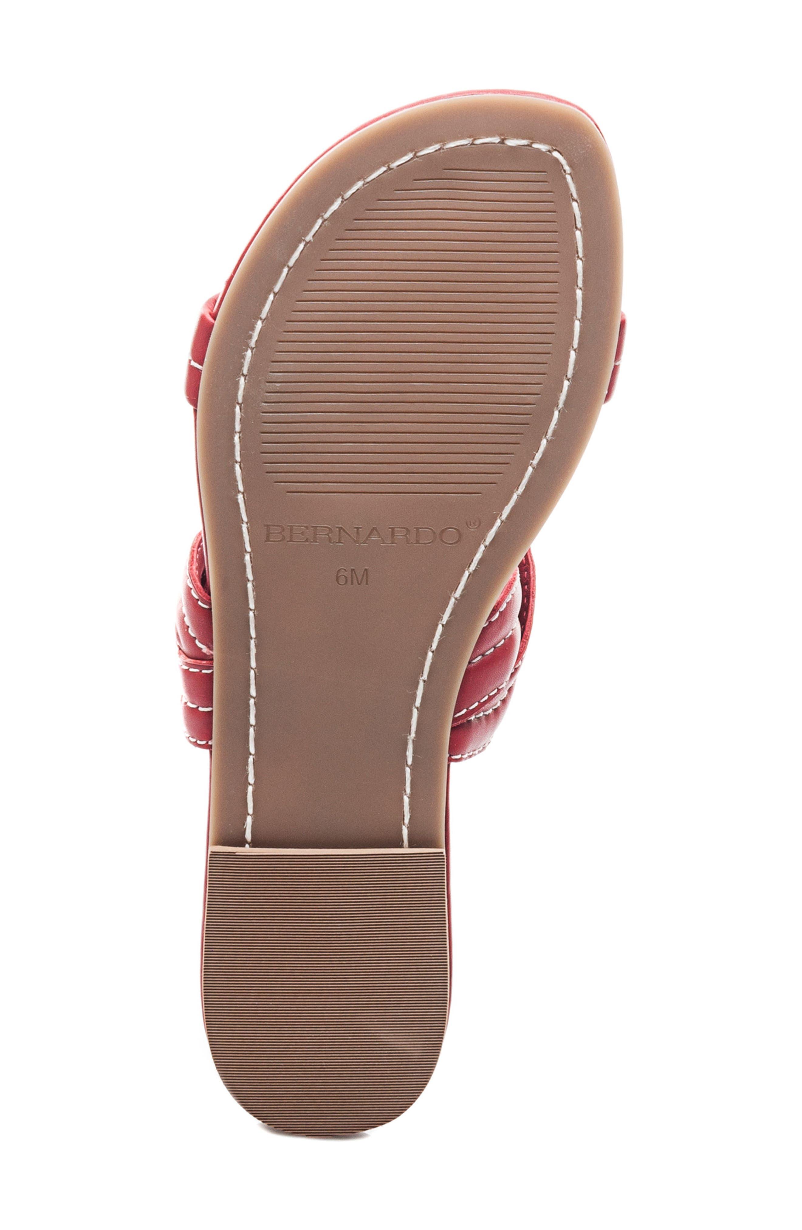 Bernardo Mirian Slide Sandal,                             Alternate thumbnail 6, color,                             Red Leather